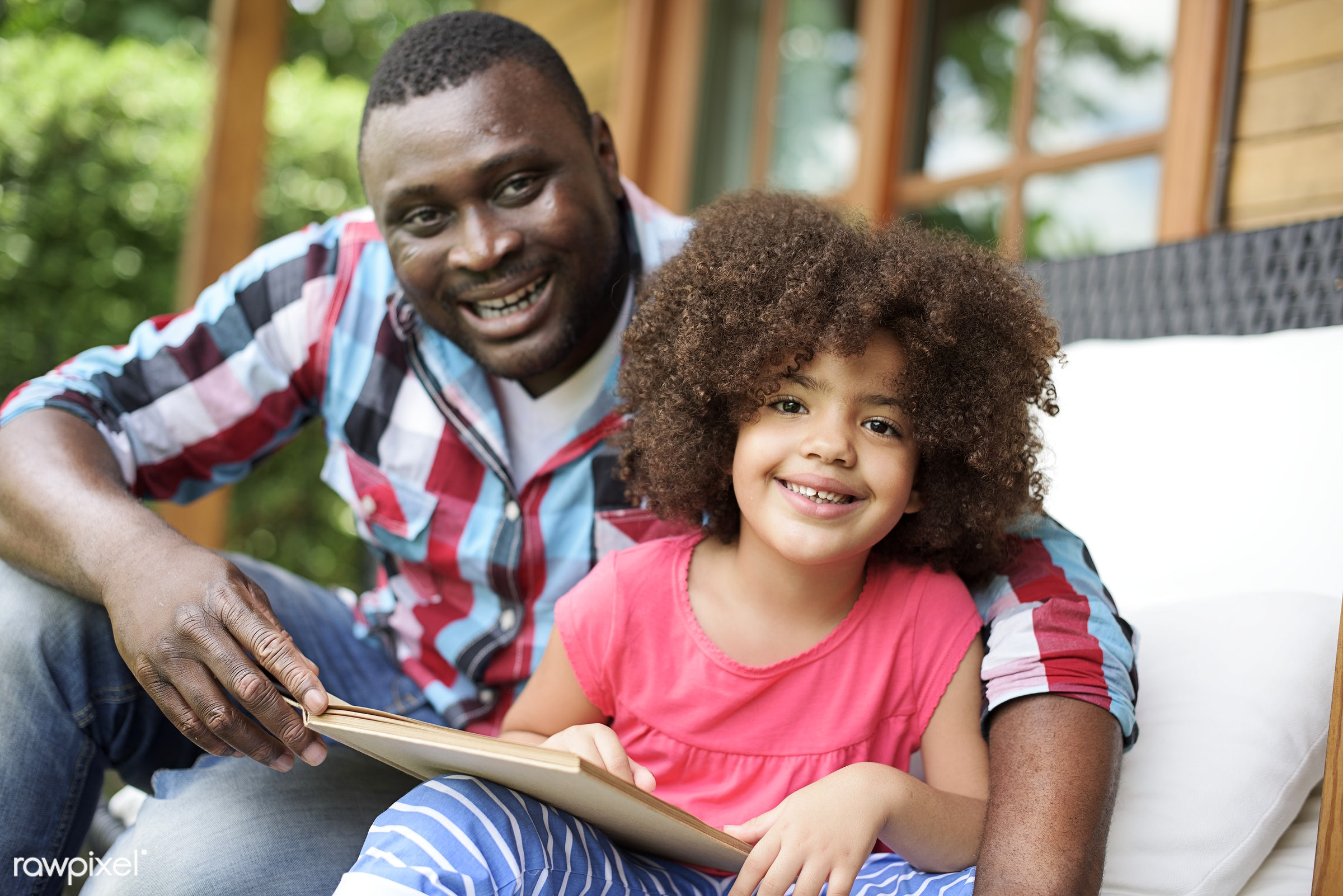 child, family, african descent, father, activity, african, african american, black, bonding, book, carefree, casual,...
