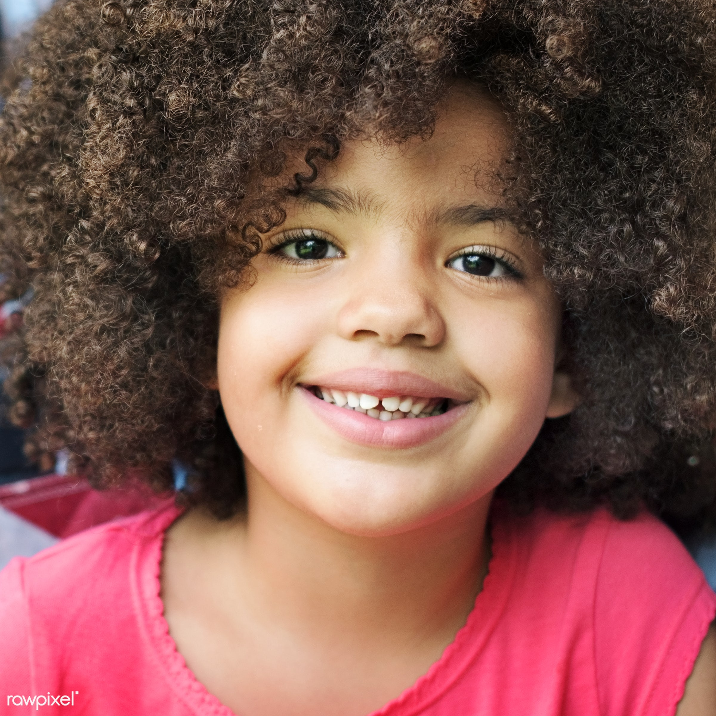 Portrait of a cute young girl - lifestyle, activity, african, african american, african descent, black, bonding, carefree,...