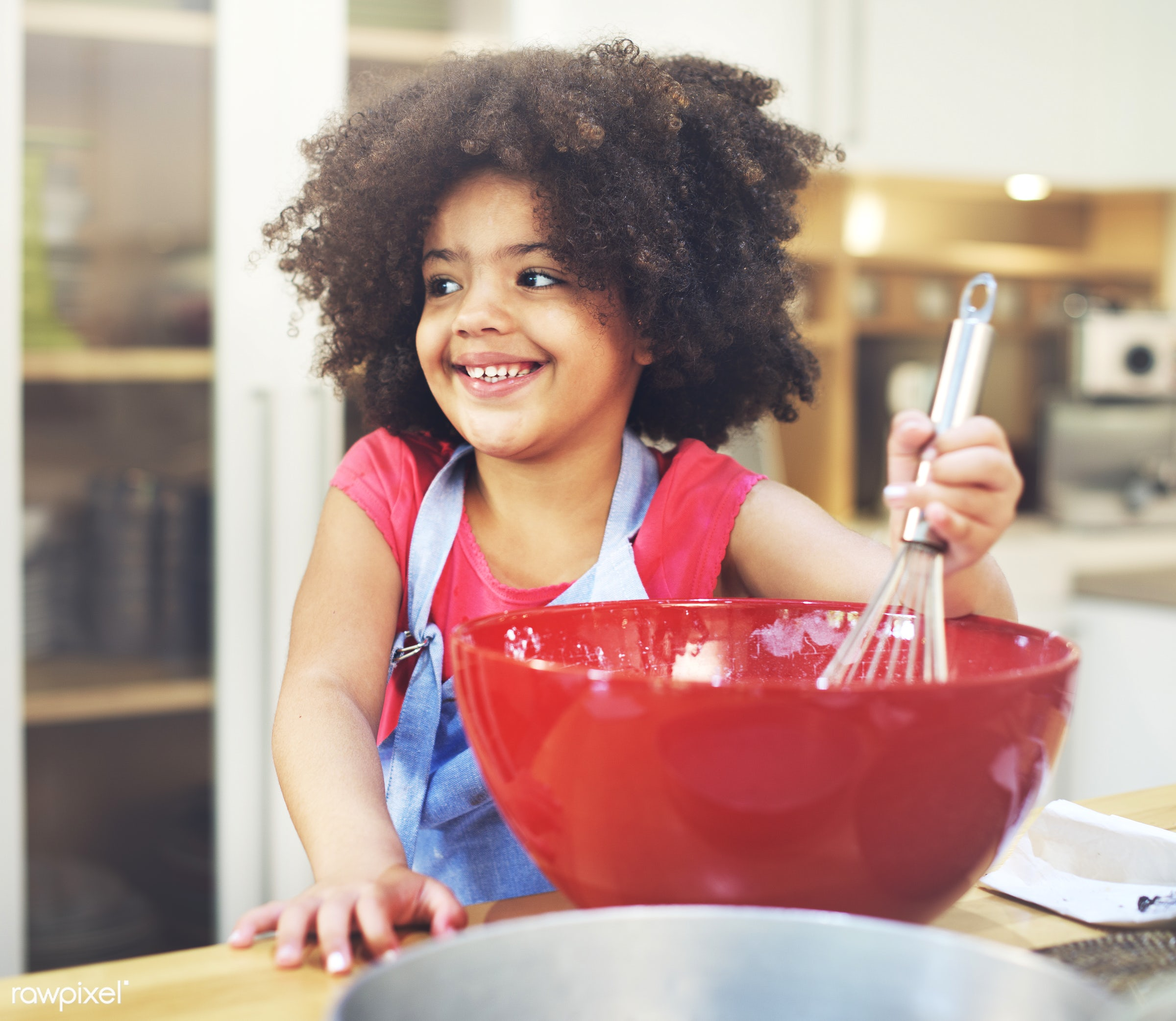 activity, african, african descent, apron, bake, baker, bakery, bowl, cake, casual, cheerful, chef, child, childhood,...