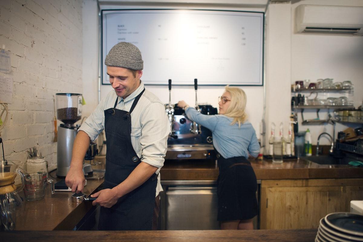 Barista Professional Staff Steam Cafe Coffee Service Concept