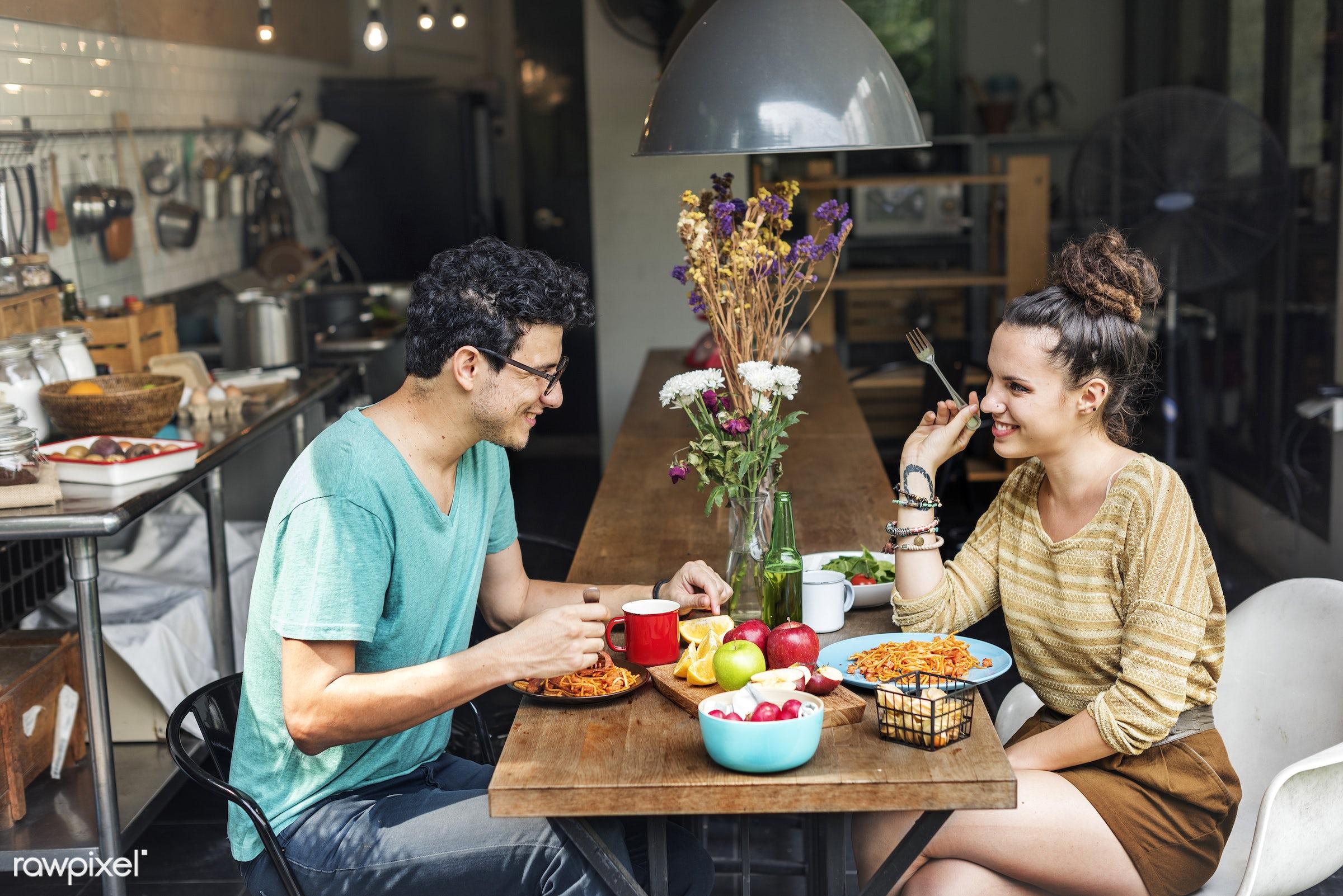 couple, breakfast, apple, activity, bonding, boyfriend, casual, cheerful, cuisine, culinary, dietary, dinner, eating,...