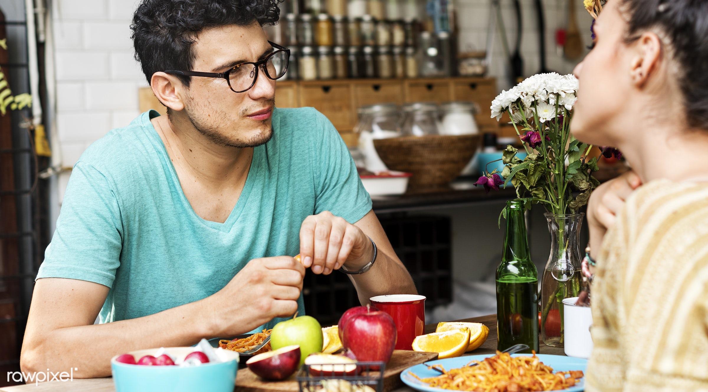 activity, apple, bonding, boyfriend, breakfast, casual, cheerful, couple, cuisine, culinary, dietary, dining, dinner, eating...
