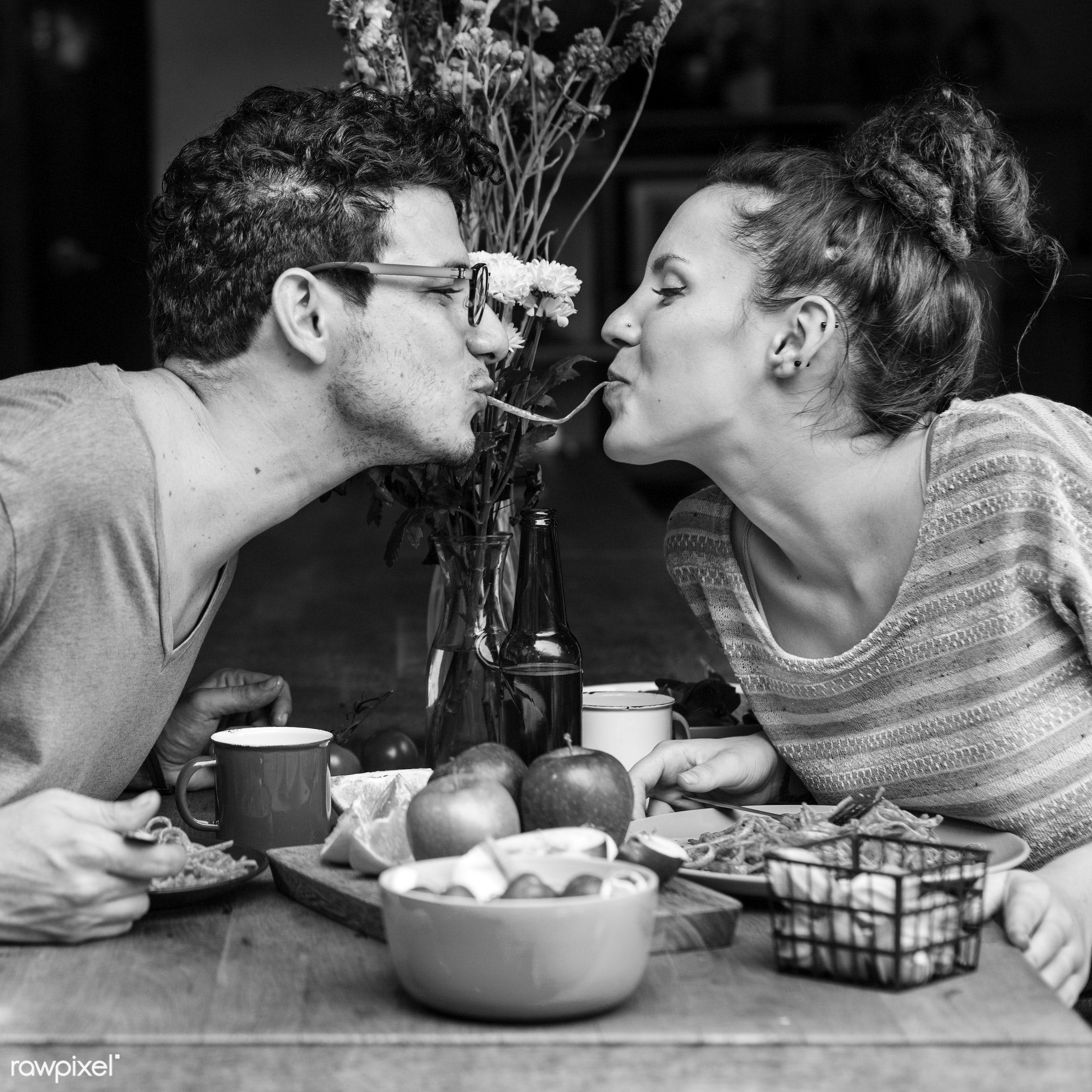 dinner, food, couple, nutrition, activity, apple, bonding, boyfriend, breakfast, casual, cheerful, cuisine, culinary,...