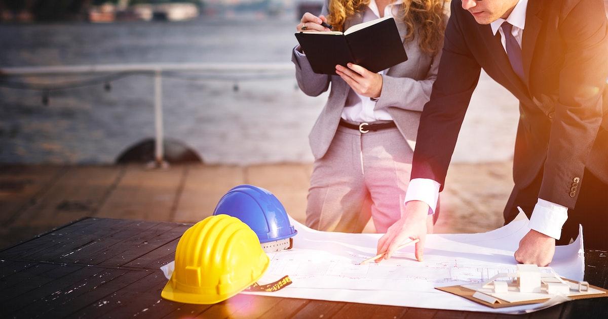 Developer Servey Planning Structure Construction Concept
