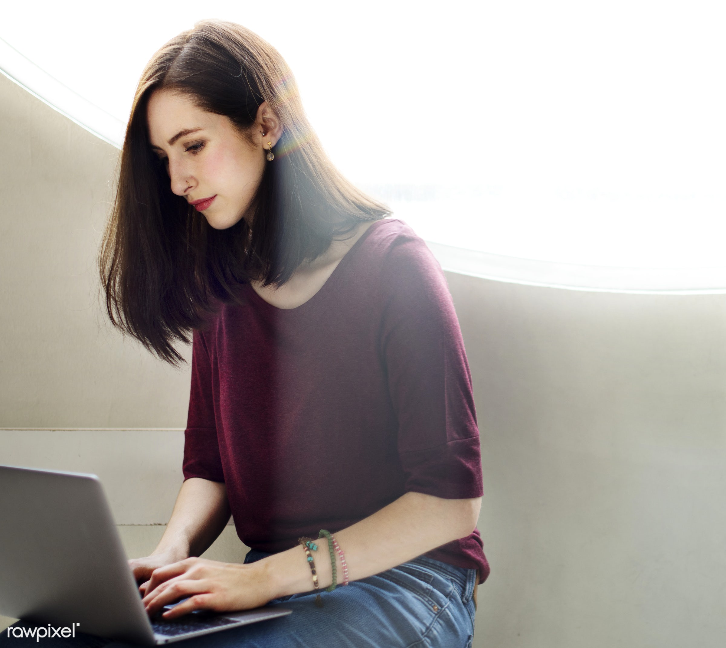 beautiful, beauty, browsing, business, businesswoman, casual, chat, chatting, comfortable, communication, computer,...