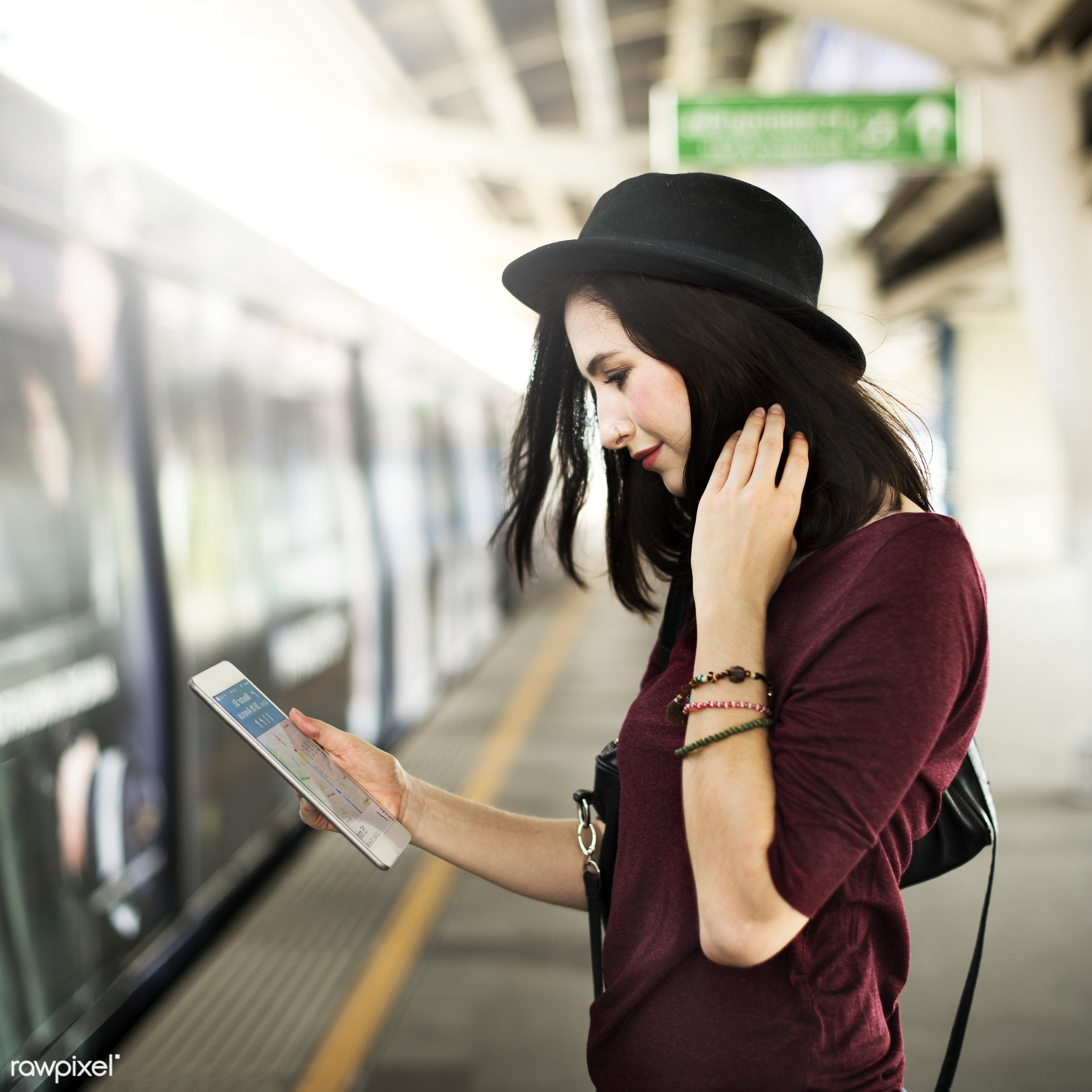 city, metro, navigate, city life, transit, casual, commuter, connection, destination, device, digital tablet, holding,...