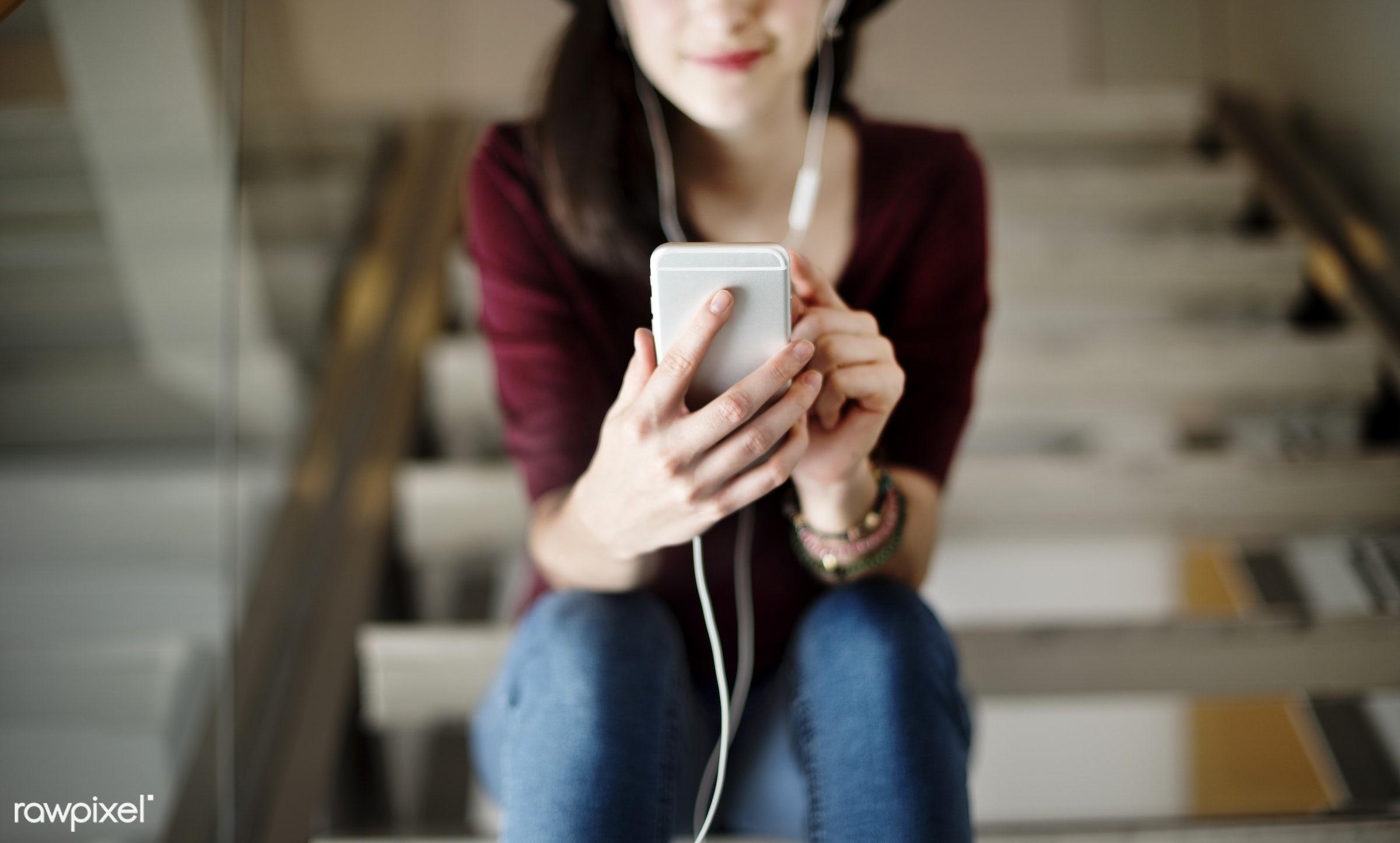 lifestyles, activity, audio equipment, calm, casual, chilling, connection, content, device, earphones, electronic, enjoyment...