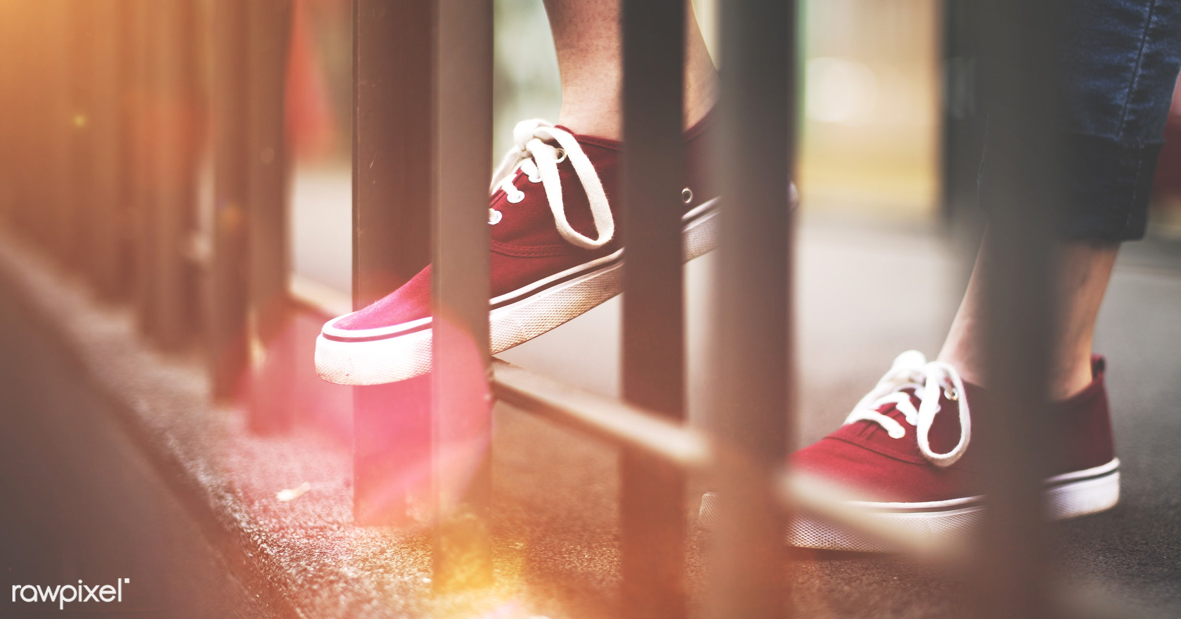 lifestyles, pair, photographing, balcony, body, canvas, canvas shoe, casual, city, city life, cool, fashionable, feet, foot...