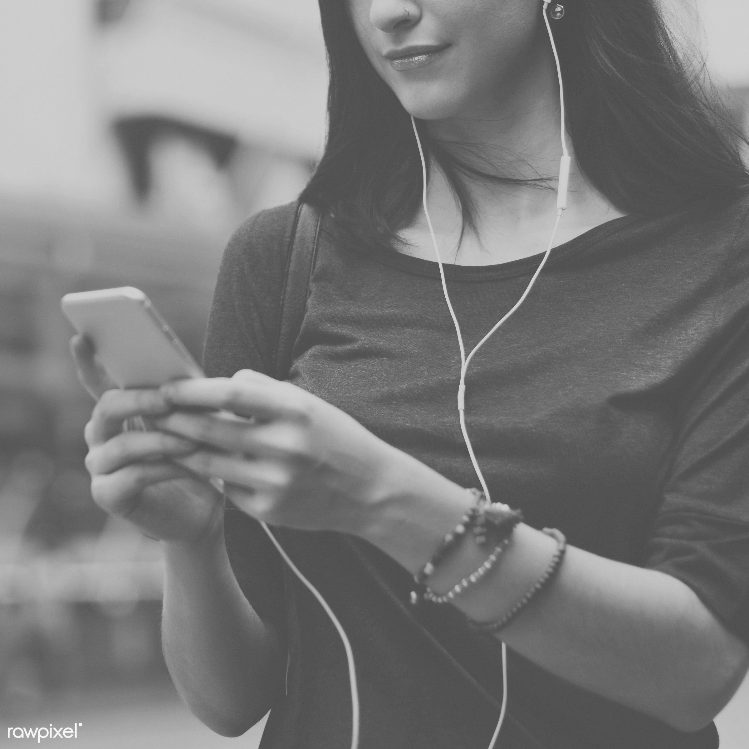 lifestyles, activity, audio equipment, casual, cheerful, chilling, city, cityscape, connection, crowd, earphones, enjoyment...
