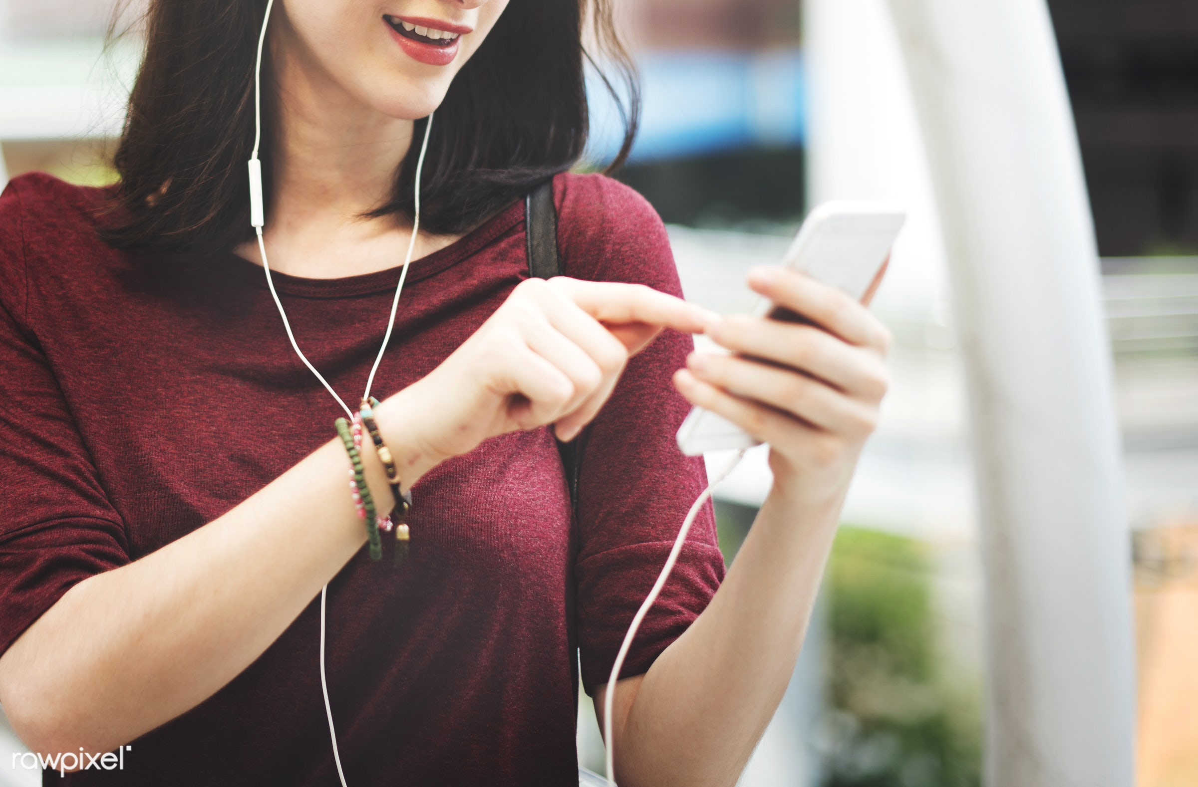 activity, audio equipment, casual, cheerful, chilling, city, cityscape, connection, crowd, earphones, enjoyment,...