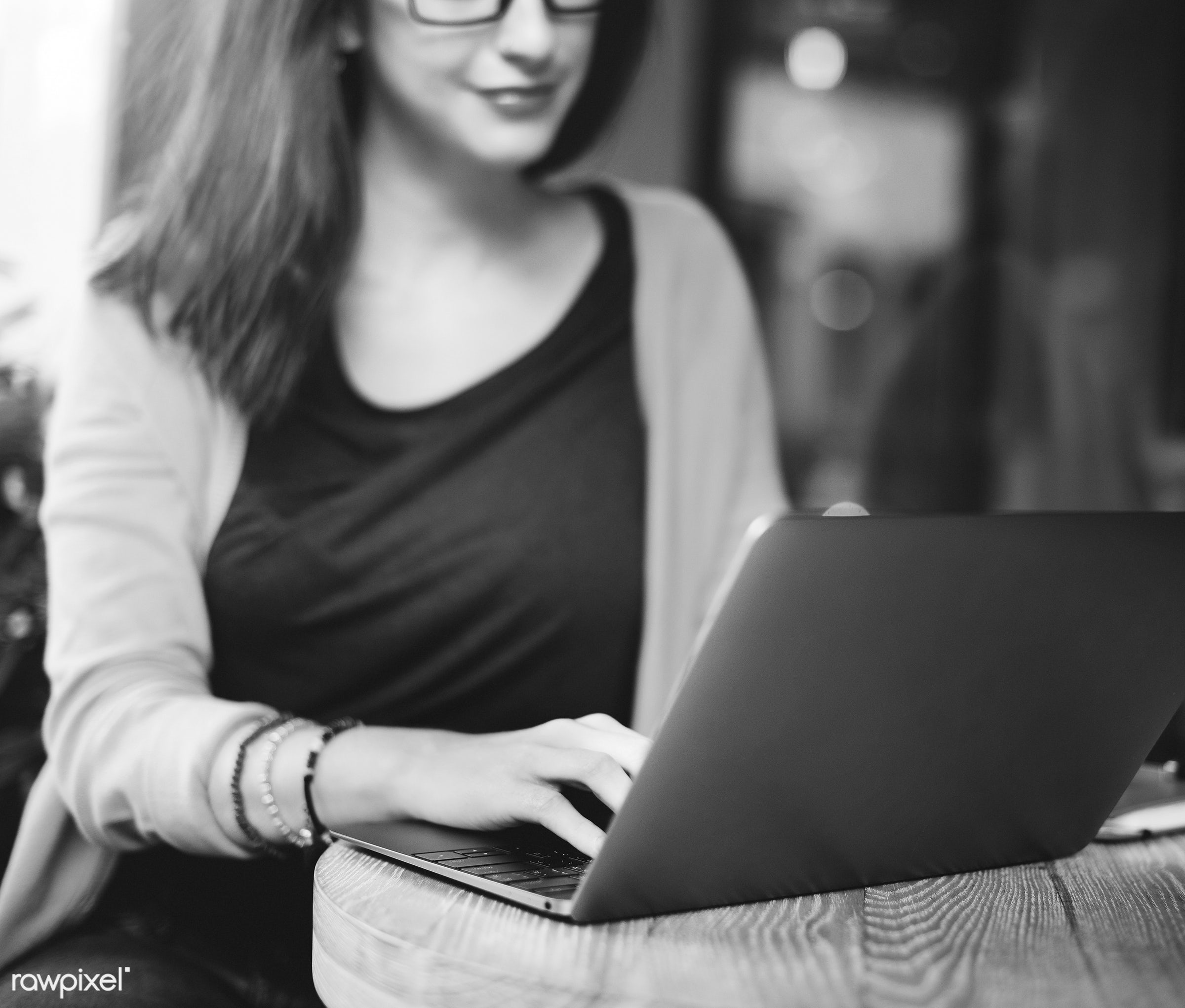 adult, alone, browsing, cafe, casual, college, communication, connection, digital device, education, girl, glasses, global...