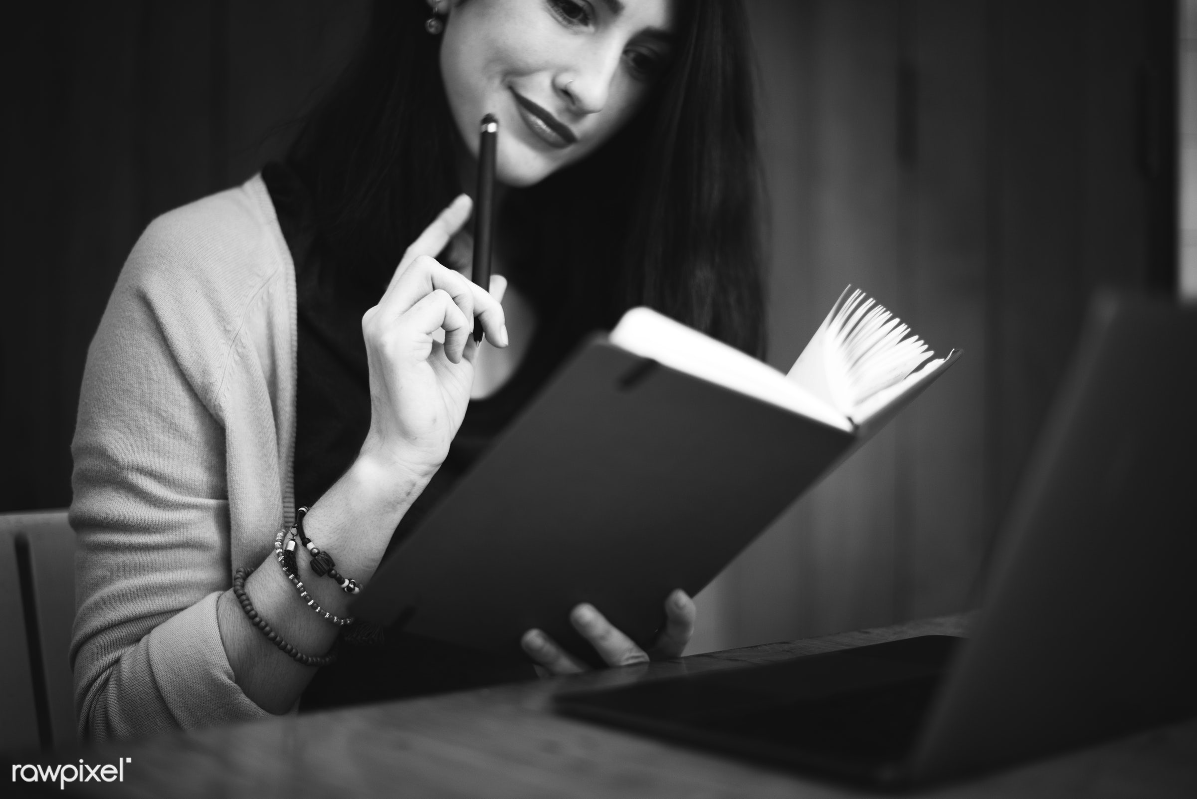 adult, alone, black and white, book, business, casual, college, concentration, dreaming, education, elegant, expression,...