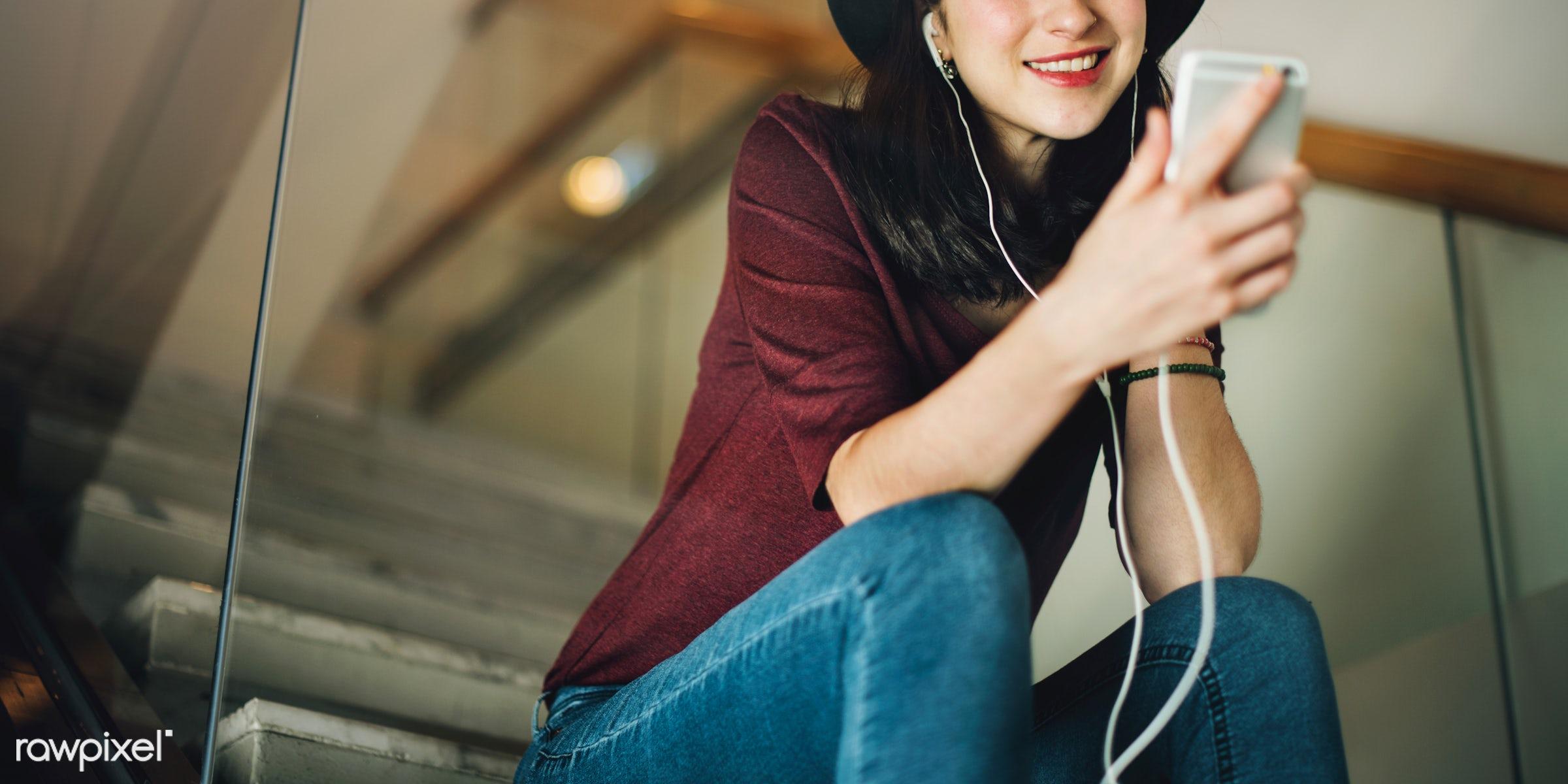 activity, audio equipment, calm, casual, chilling, connection, content, device, earphones, electronic, enjoyment,...