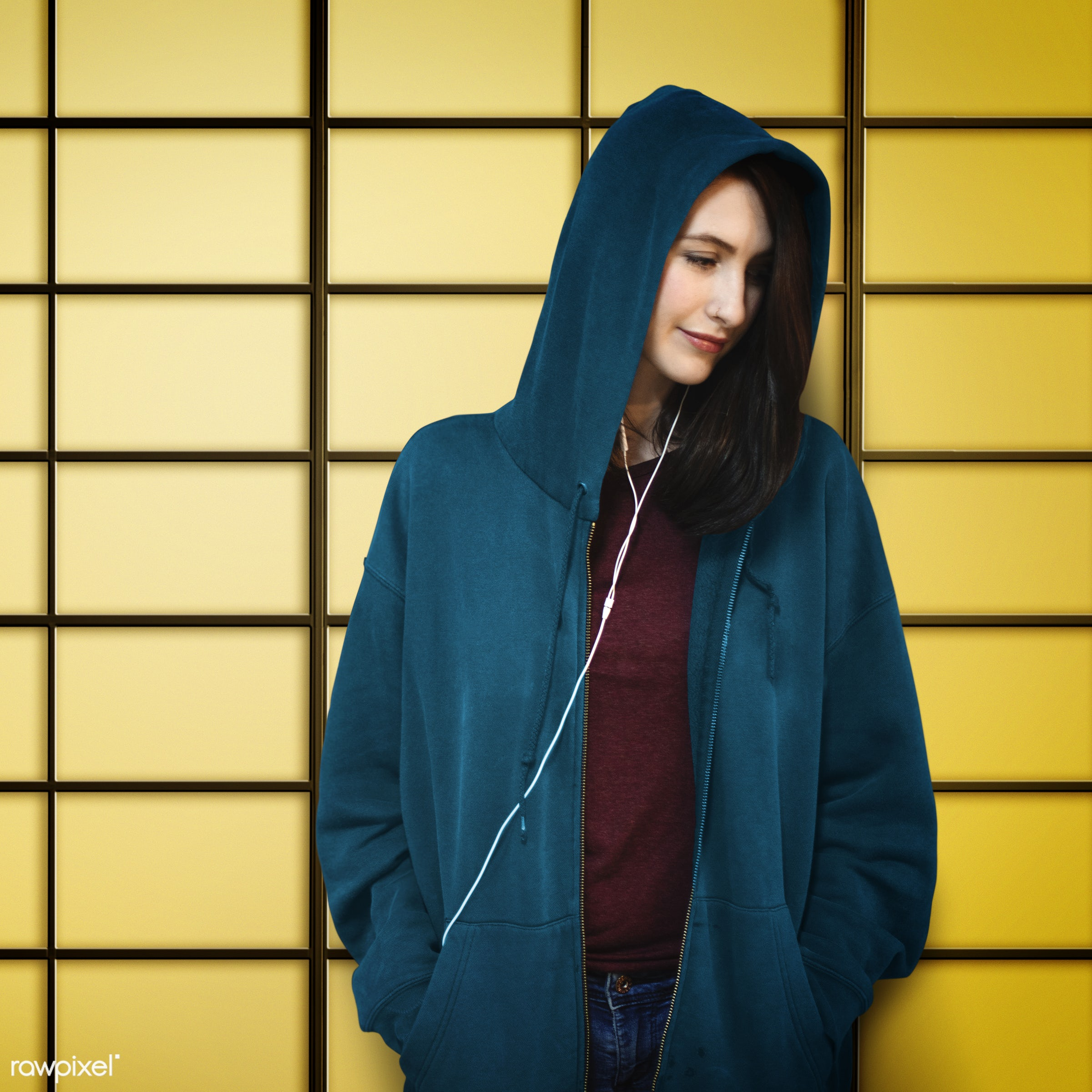 hoodie, activity, audio equipment, calm, casual, chilling, connection, content, device, earphones, electronic, enjoyment,...