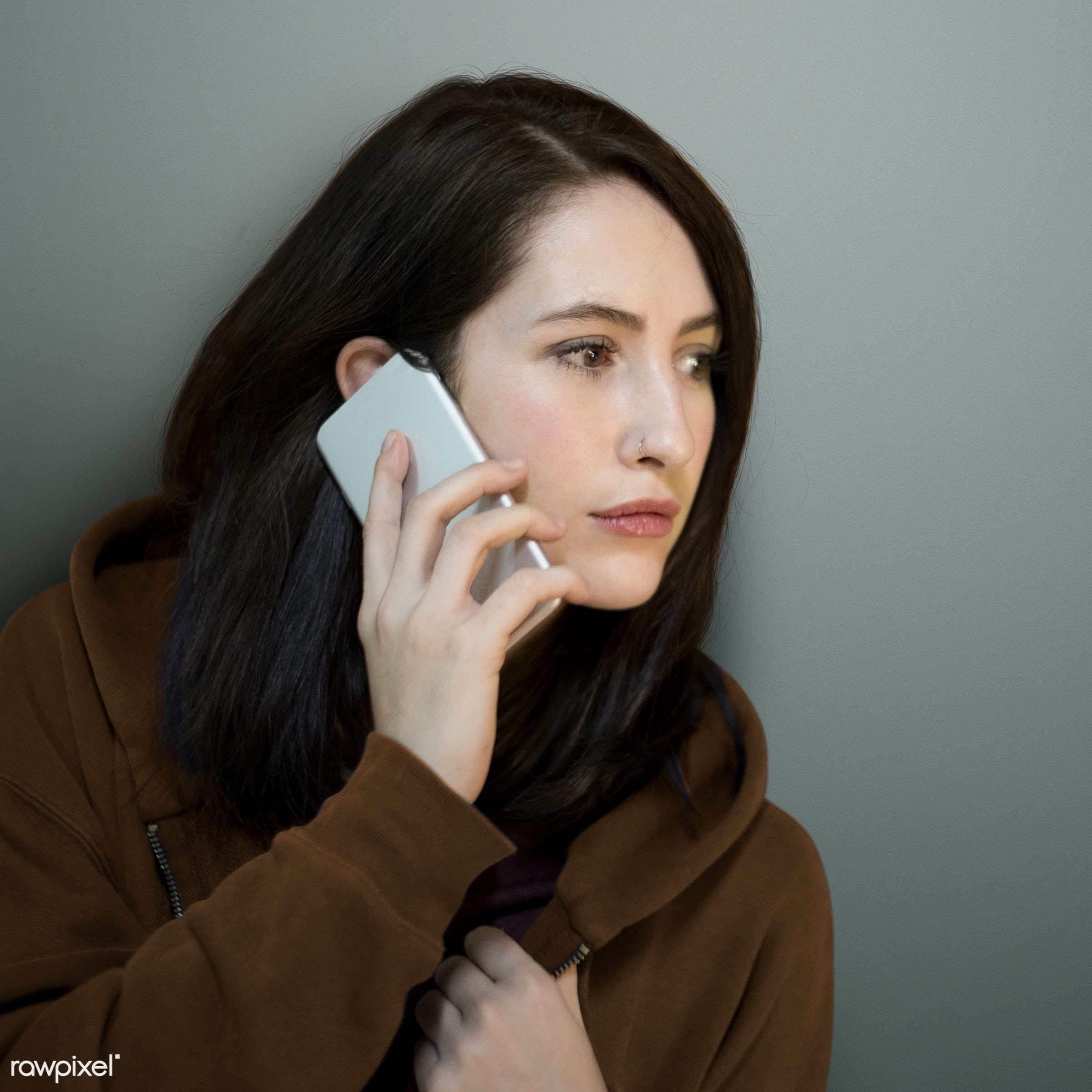 holding, mobility, alone, brunette, call, calling, casual, communication, connection, conversation, device, digital,...