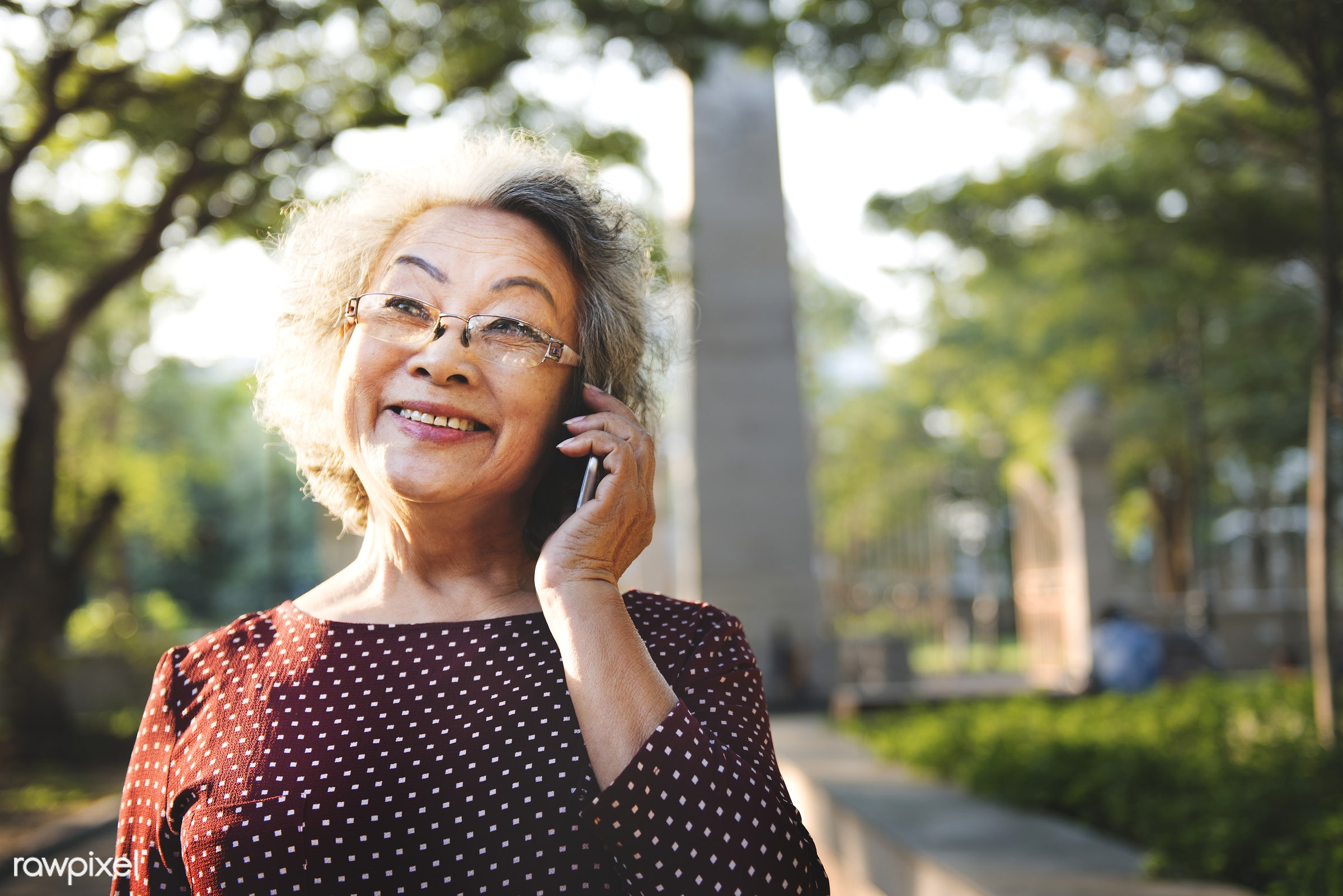 Life style of a senior Asian woman - activity, adult, cafe, casual, cheerful, close up, connect, connecting, connection,...