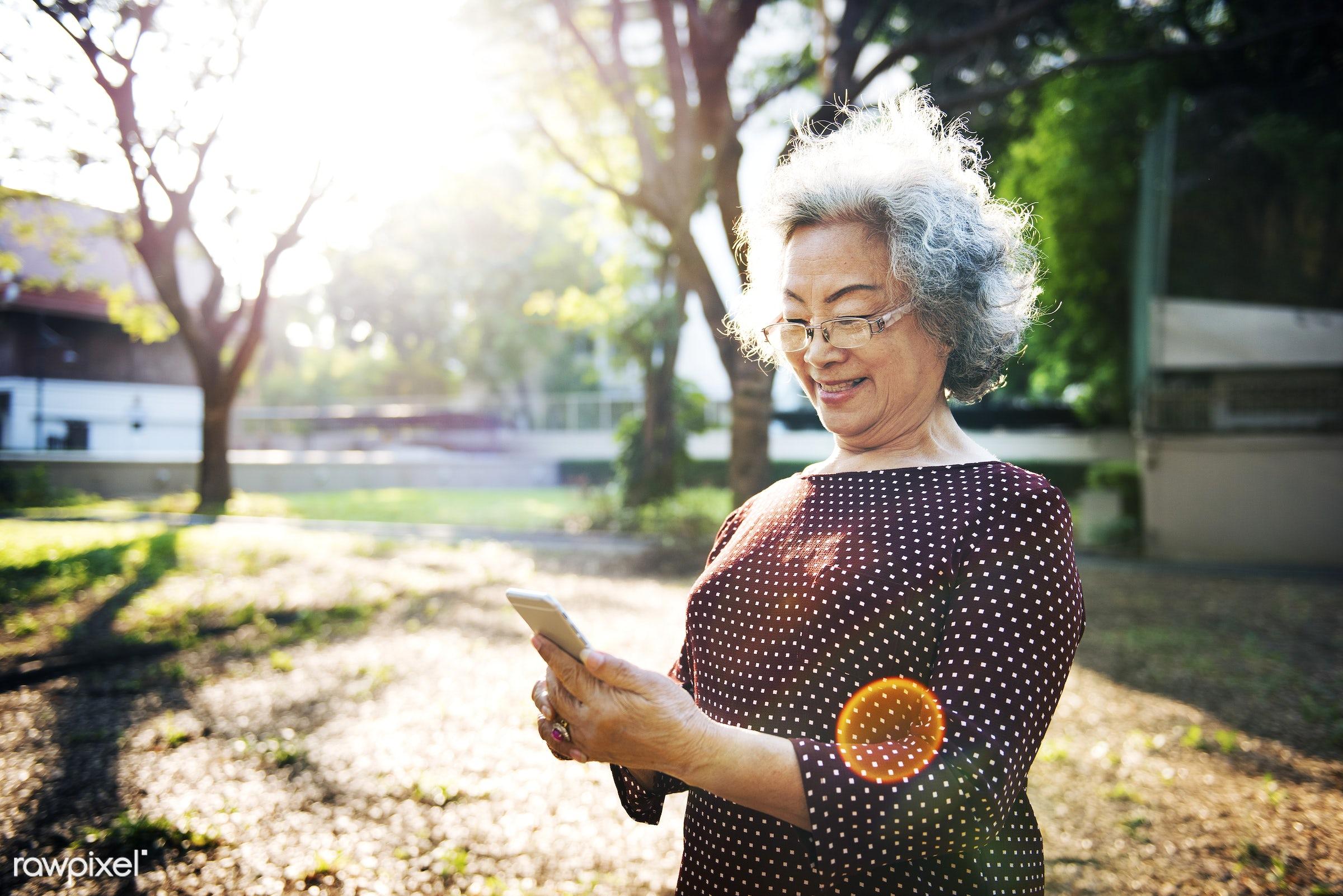 activity, asian, asian ethnicity, calling, chat, cheerful, elderly, fun, grandma, happiness, hobby, leisure, lifestyle,...