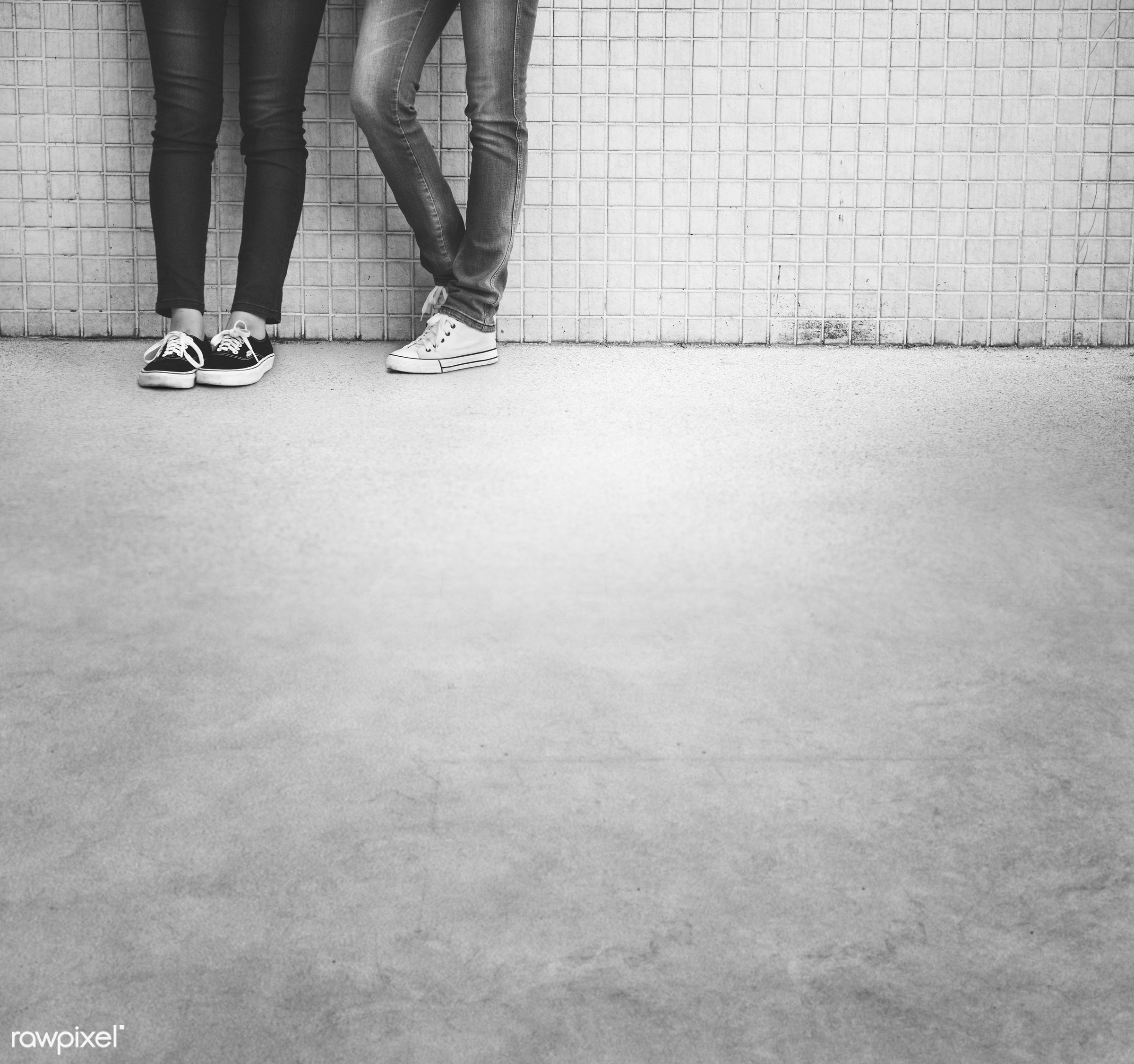 activity, casual, concept, concrete, contemporary, fashion, feet, female, femininity, friends, friendship, group, half,...