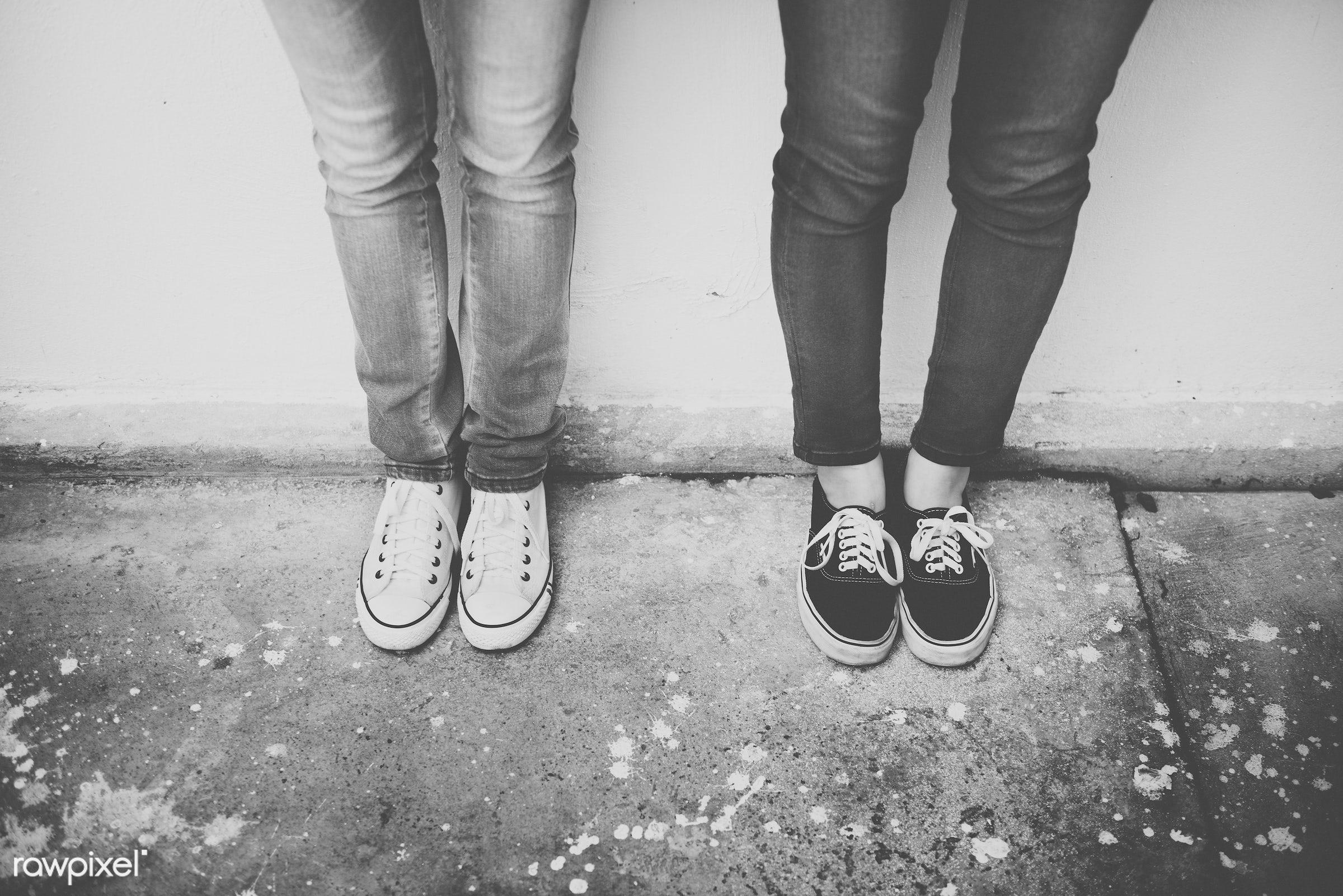 body, casual, city, city life, cool, fashionable, feet, female, foot, footpath, freedom, friends, friendship, human foot,...