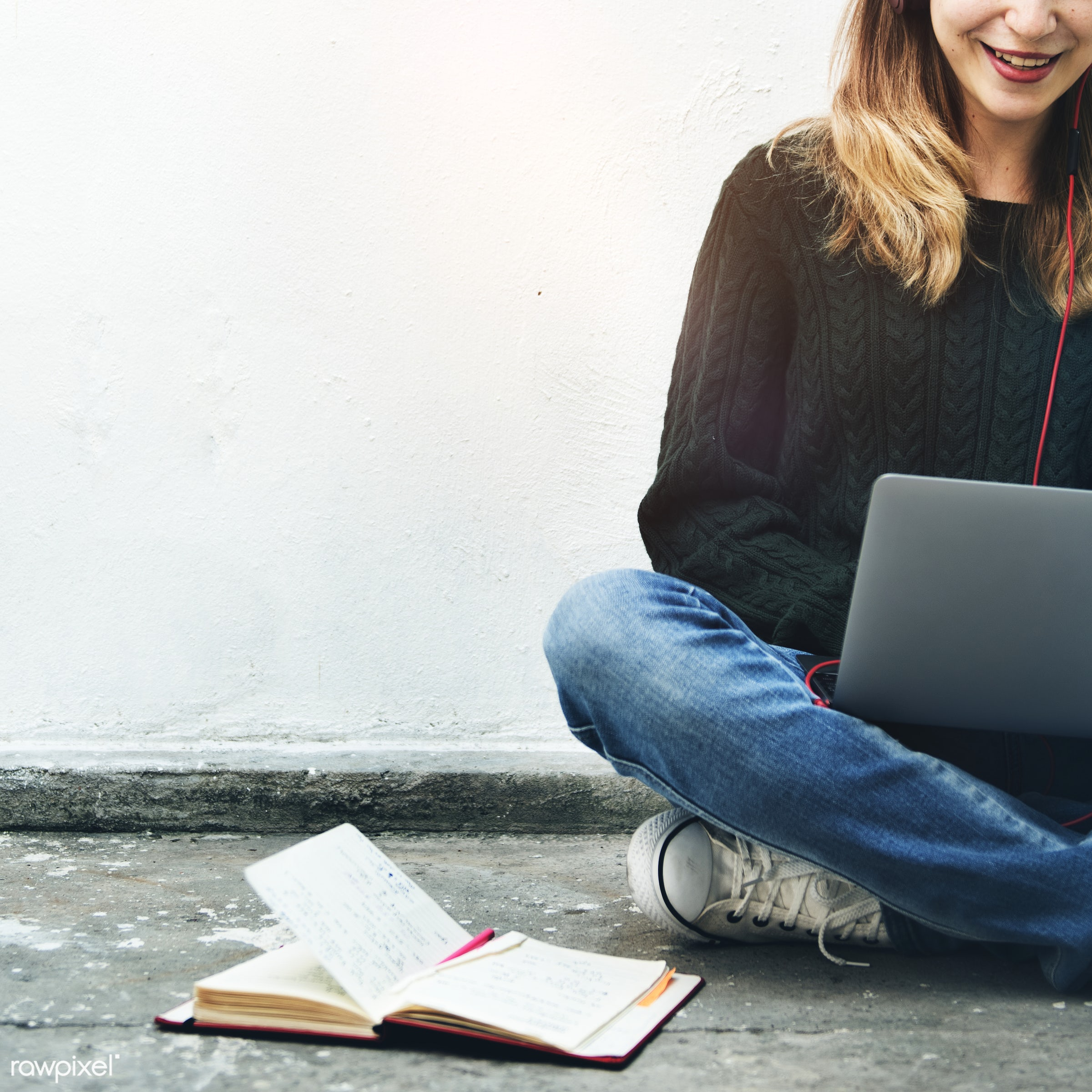 book, laptop, adult, alone, browsing, casual, college, communication, connection, digital device, education, entertainment,...
