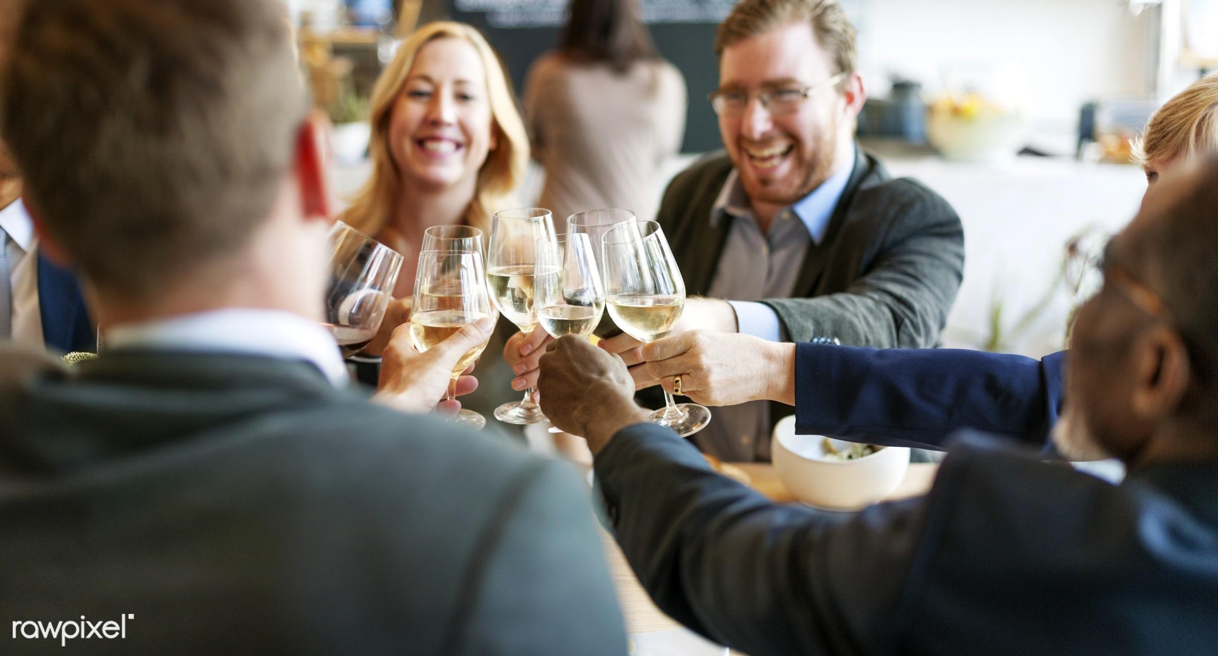 anniversary, beverage, business, business people, businessmen, businesswomen, cafe, celebrate, celebration, cheerful, cheers...