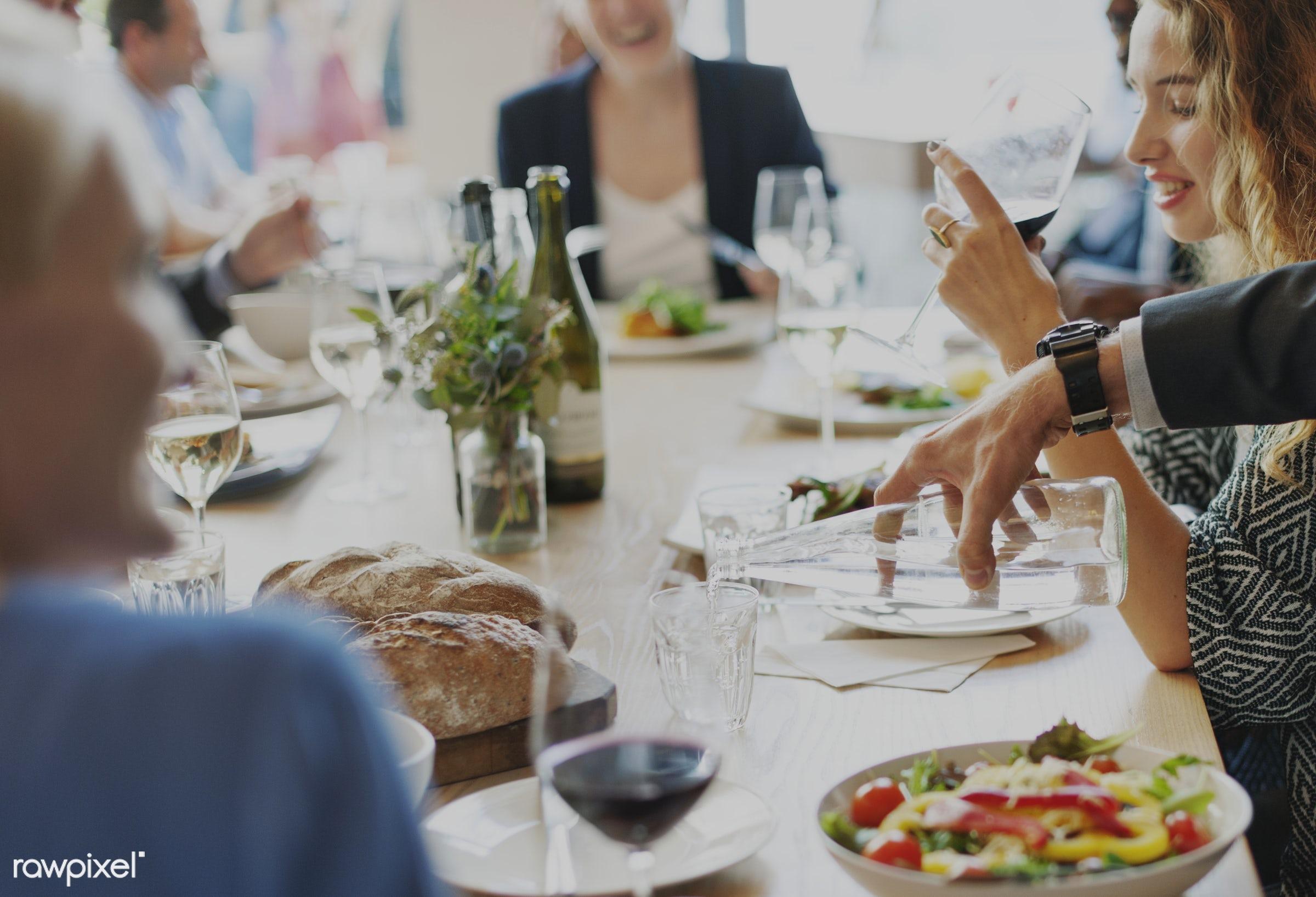buffet, adult, banquet, break, brunch, business, business people, businesswoman, cafe, casual, catering, caucasian,...