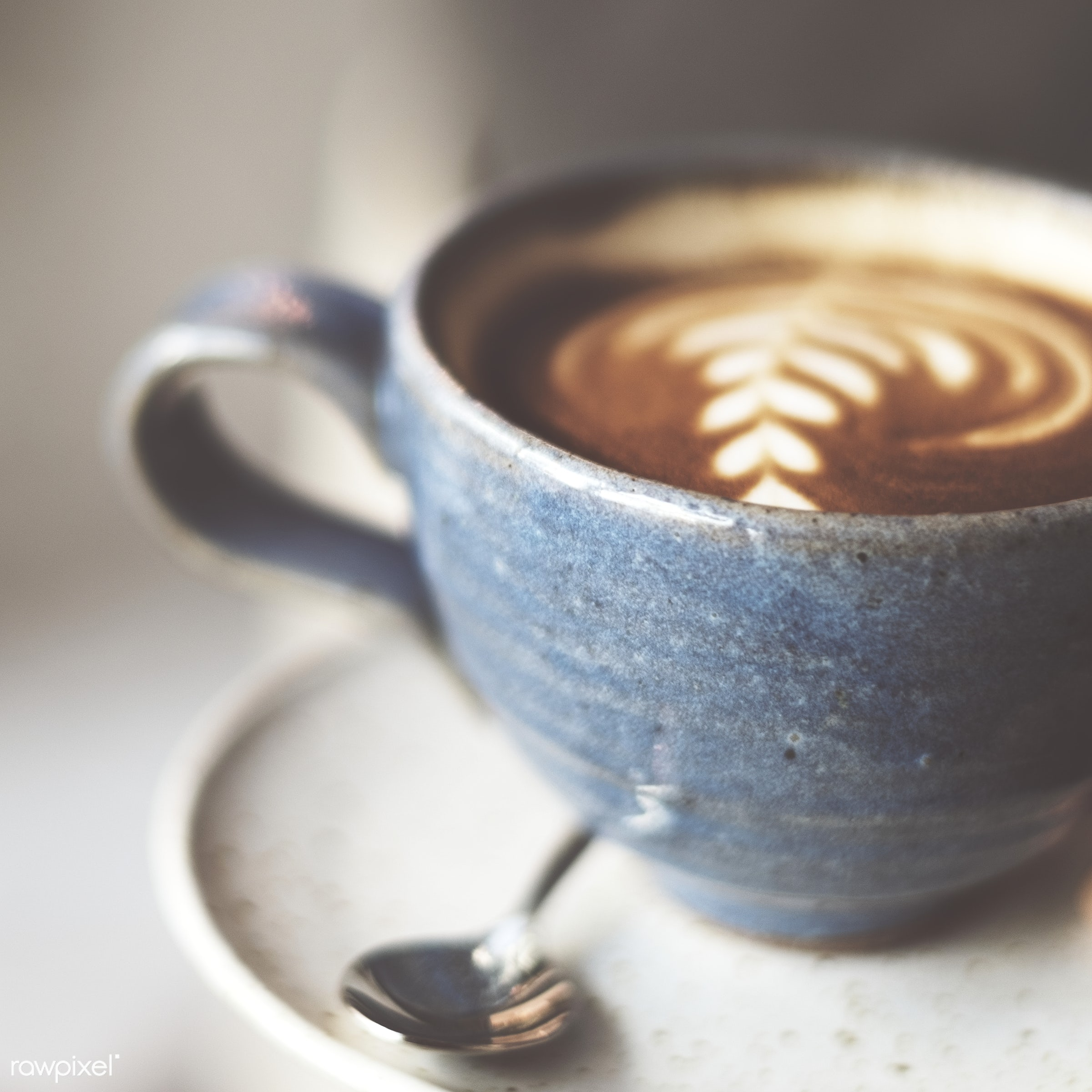 Closeup of hot coffee - coffee, drink, morning, cafe, cup, aroma, art, barista, beverage, break, caffeine, cappuccino,...