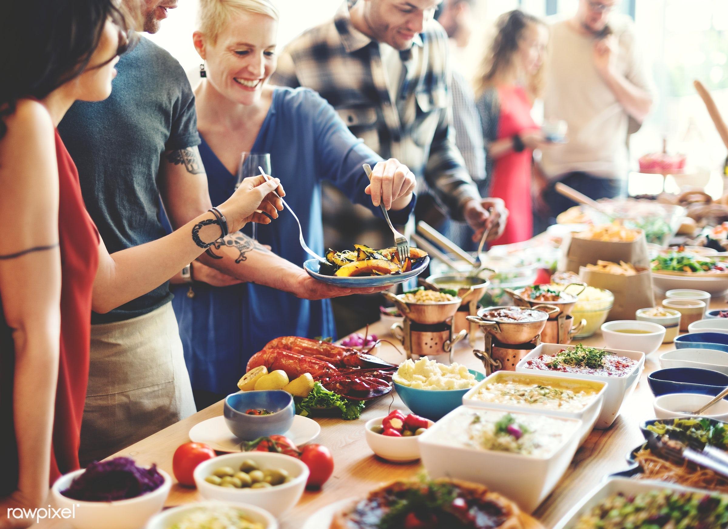 wine, asian food, brunch, buffet, cafe, celebration, choice, crowd, dessert, diet, dining, dinner, diversity, drinking, eat...