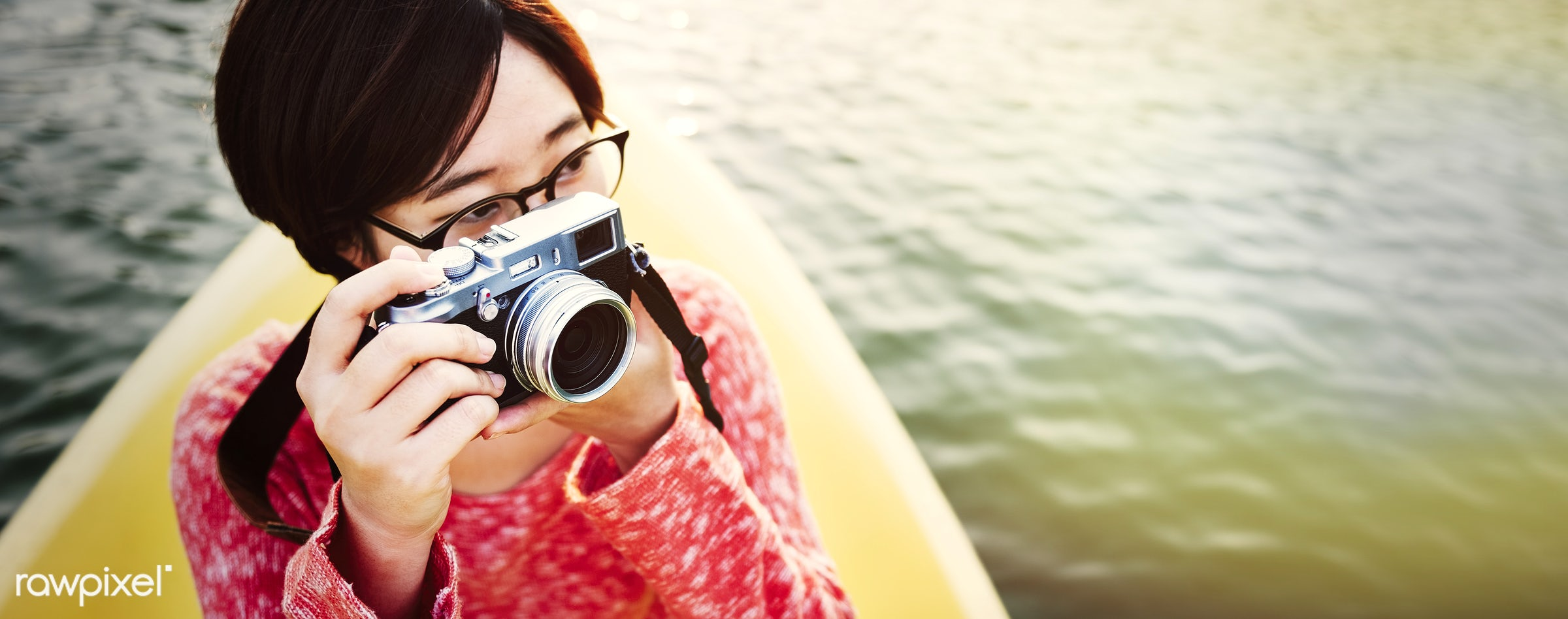 activity, adventure, asian ethnicity, beautiful, boat, camera, canoe, canoeing, casual, destination, enjoyment, freedom, fun...