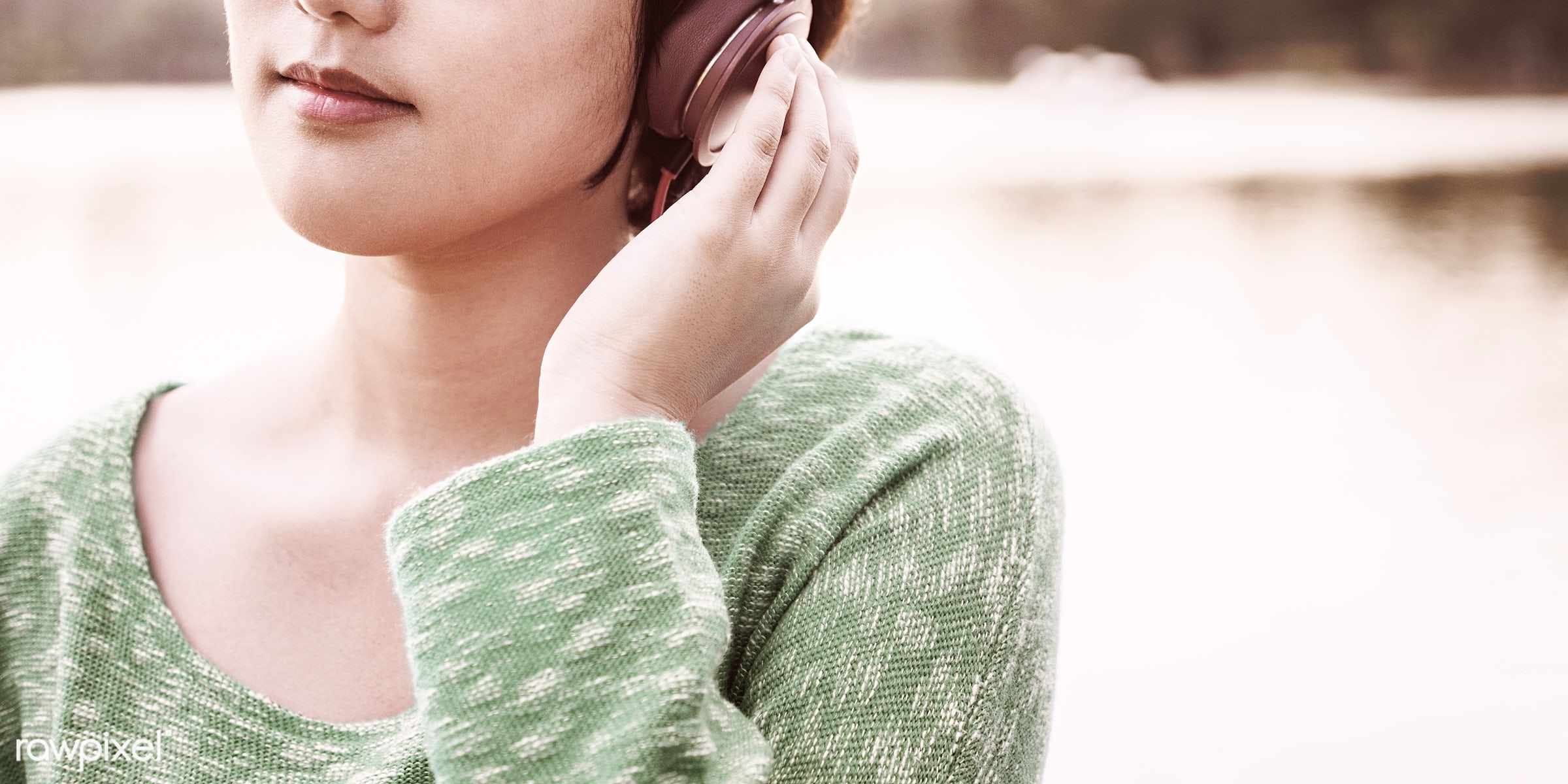 music, activity, asian ethnicity, audio equipment, calm, casual, chilling, earphones, electronic, enjoyment, entertainment,...