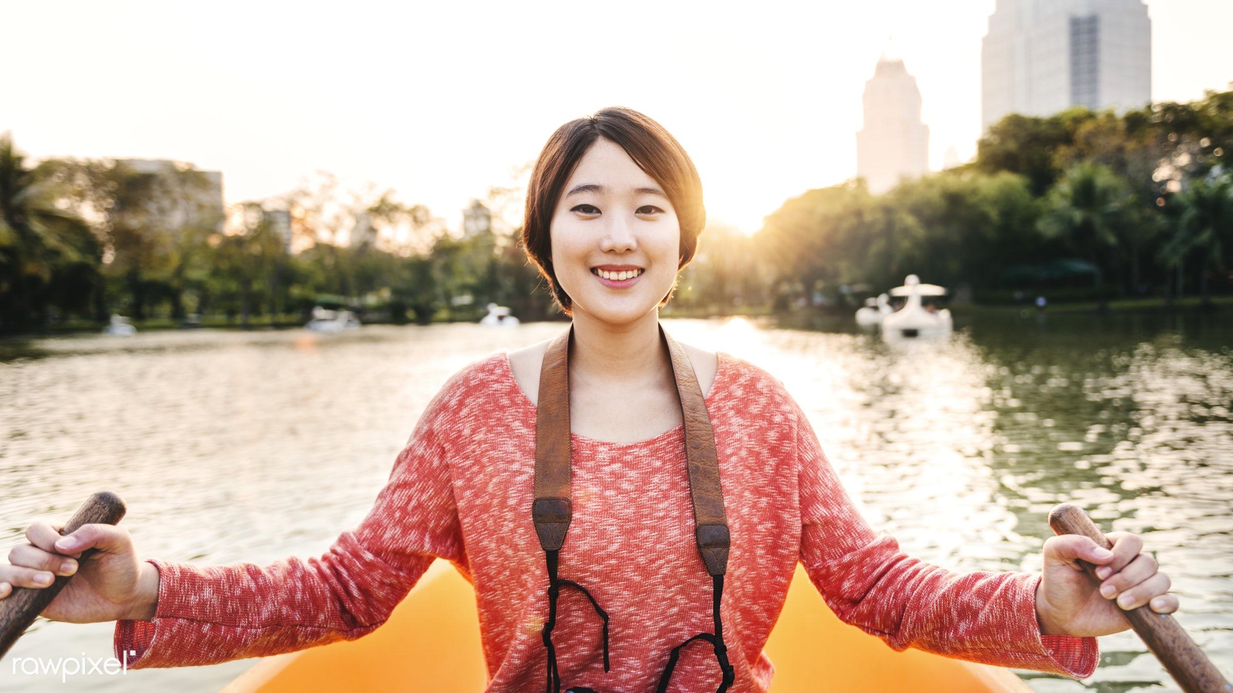 kayak, activity, adventure, asian ethnicity, beautiful, boat, camera, canoe, canoeing, casual, destination, enjoyment,...