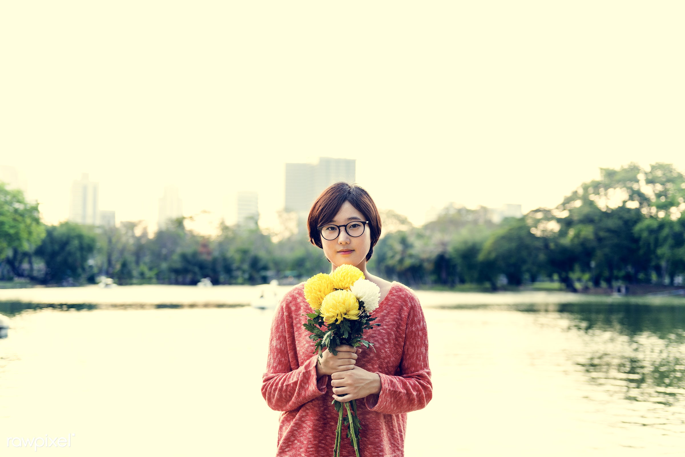 alone, asian, asian ethnicity, beautiful, blossom, calm, casual, cheerful, chilling, chrysanthemum, dating, enjoyment, flora...