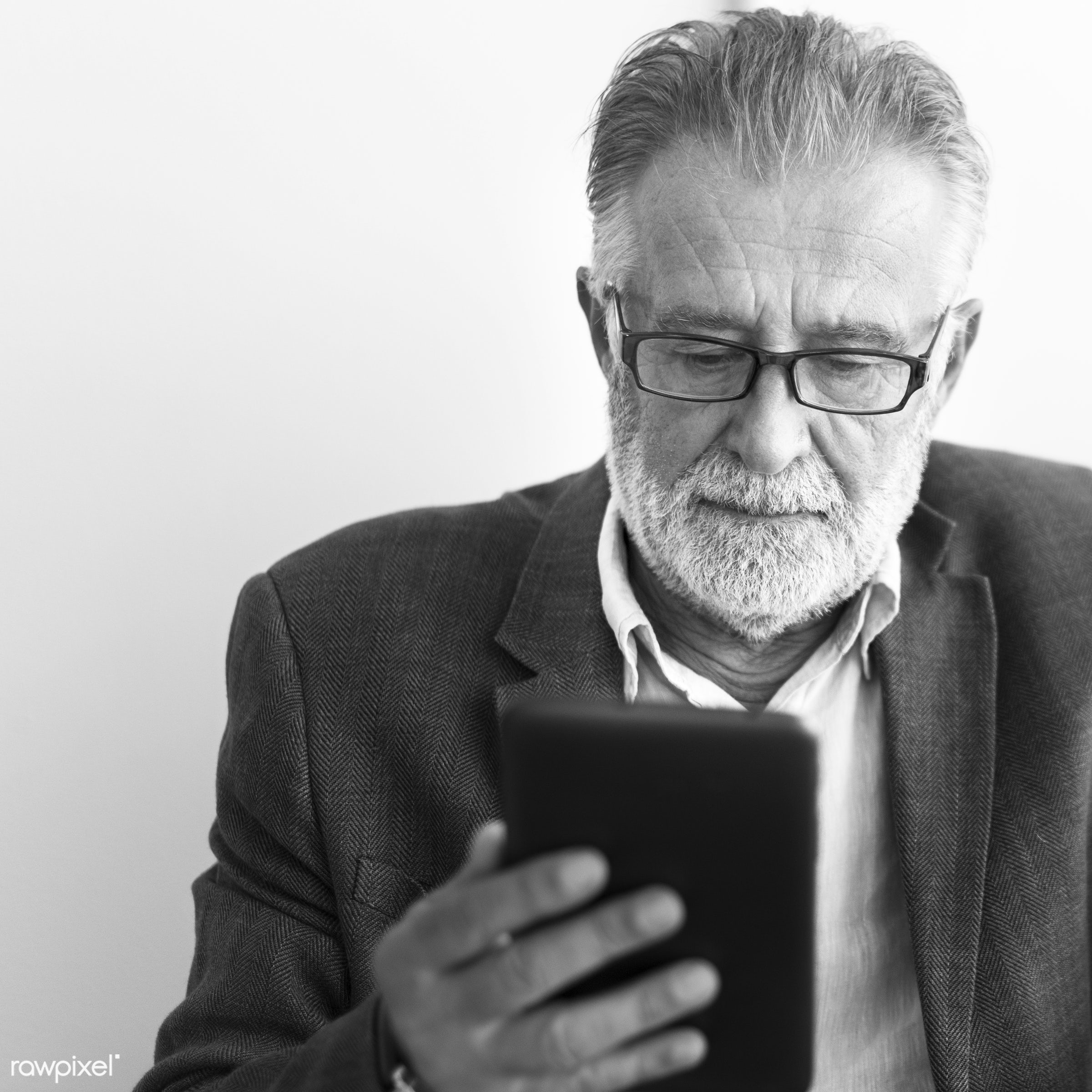 alone, beard, casual, caucasian, communication, connection, device, digital, elderly, hipster, leisure, lifestyle, man,...