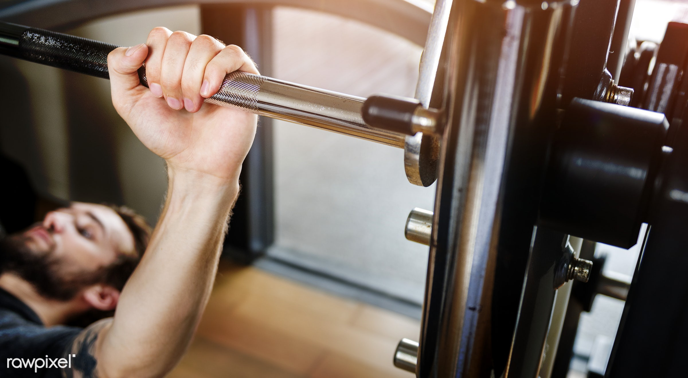 A man lifting weights - gym, active, adult, athlete, athletic, attractive, barbell, body, bodybuilding, building, cheerful,...