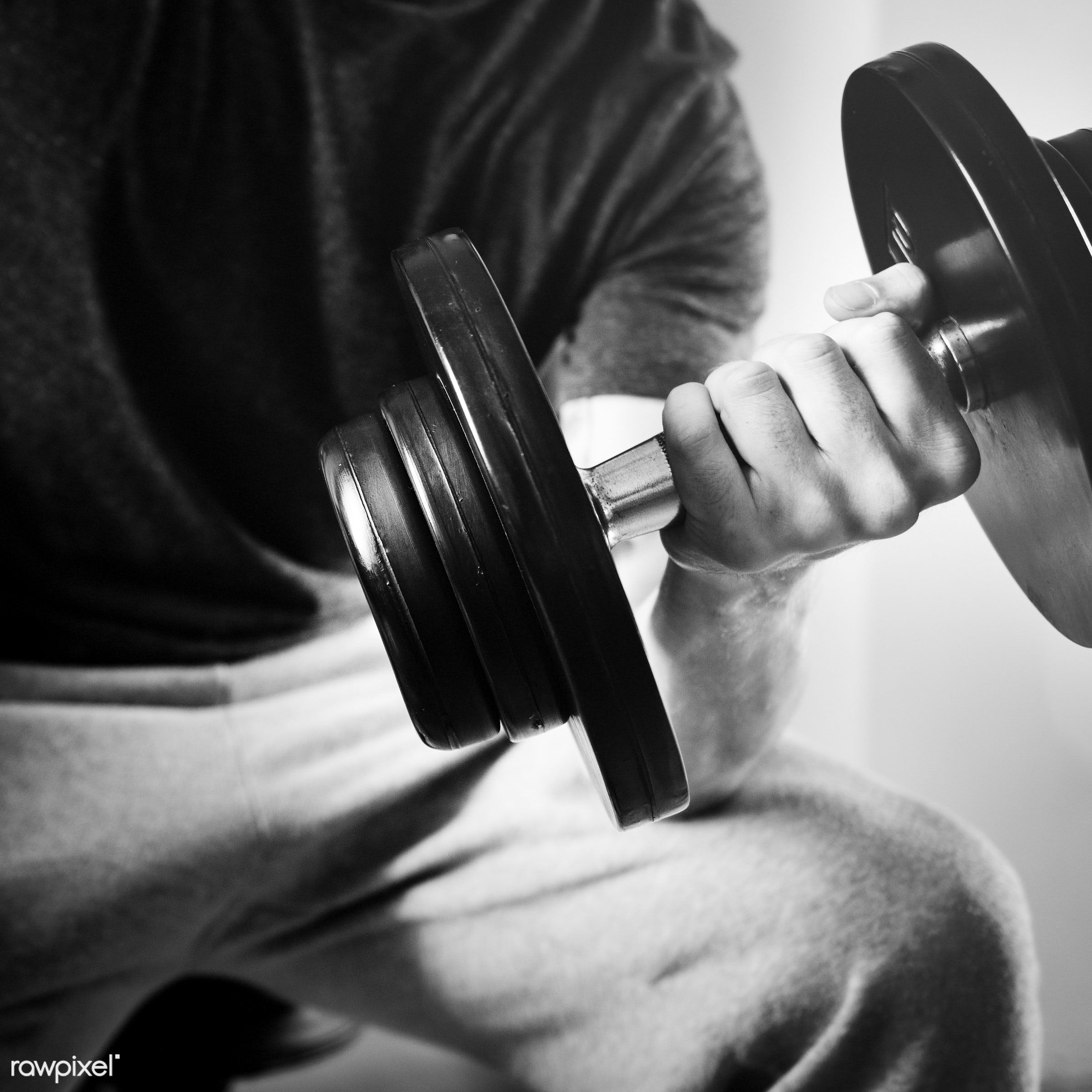 A man lifting weights - fitness, gym, body, exercise, workout, active, adult, athlete, athletic, attractive, barbell,...