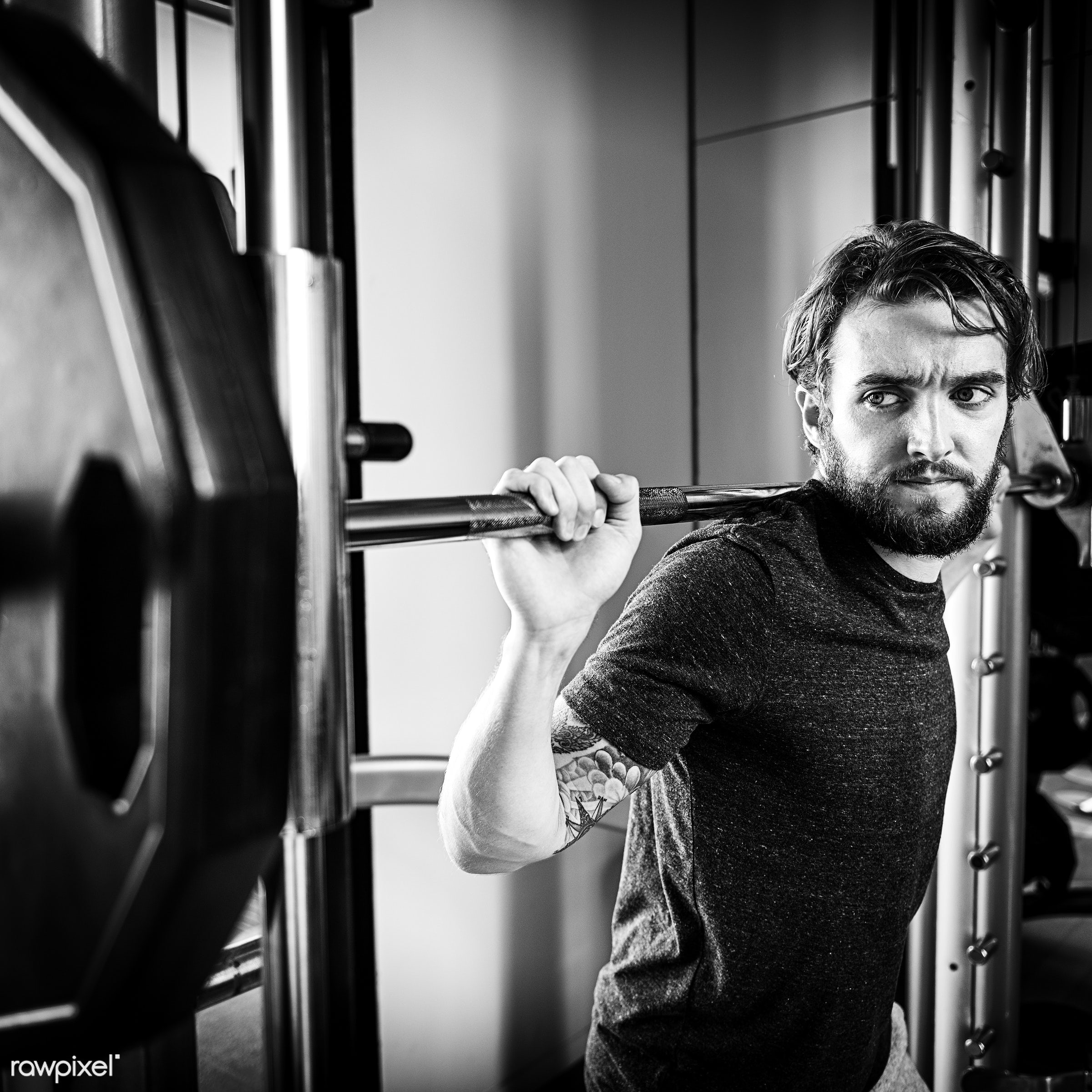 active, adult, athlete, athletic, attractive, barbell, body, bodybuilding, building, cheerful, dumbbell, equipment, exercise...