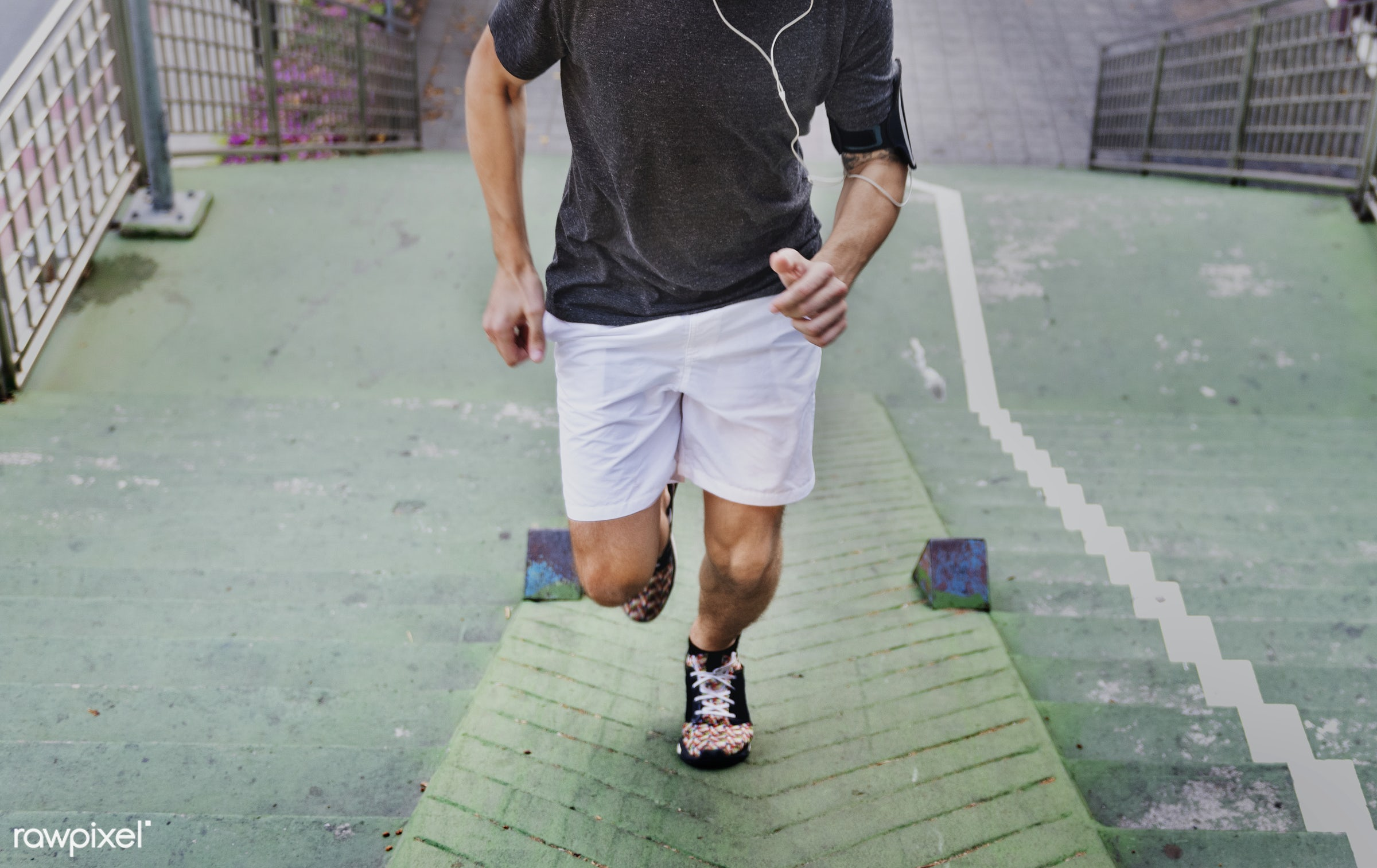 A man jogging in the city - sport, active, adult, athlete, athletic, attractive, exercise, fit, healthy, healthy lifestyle,...