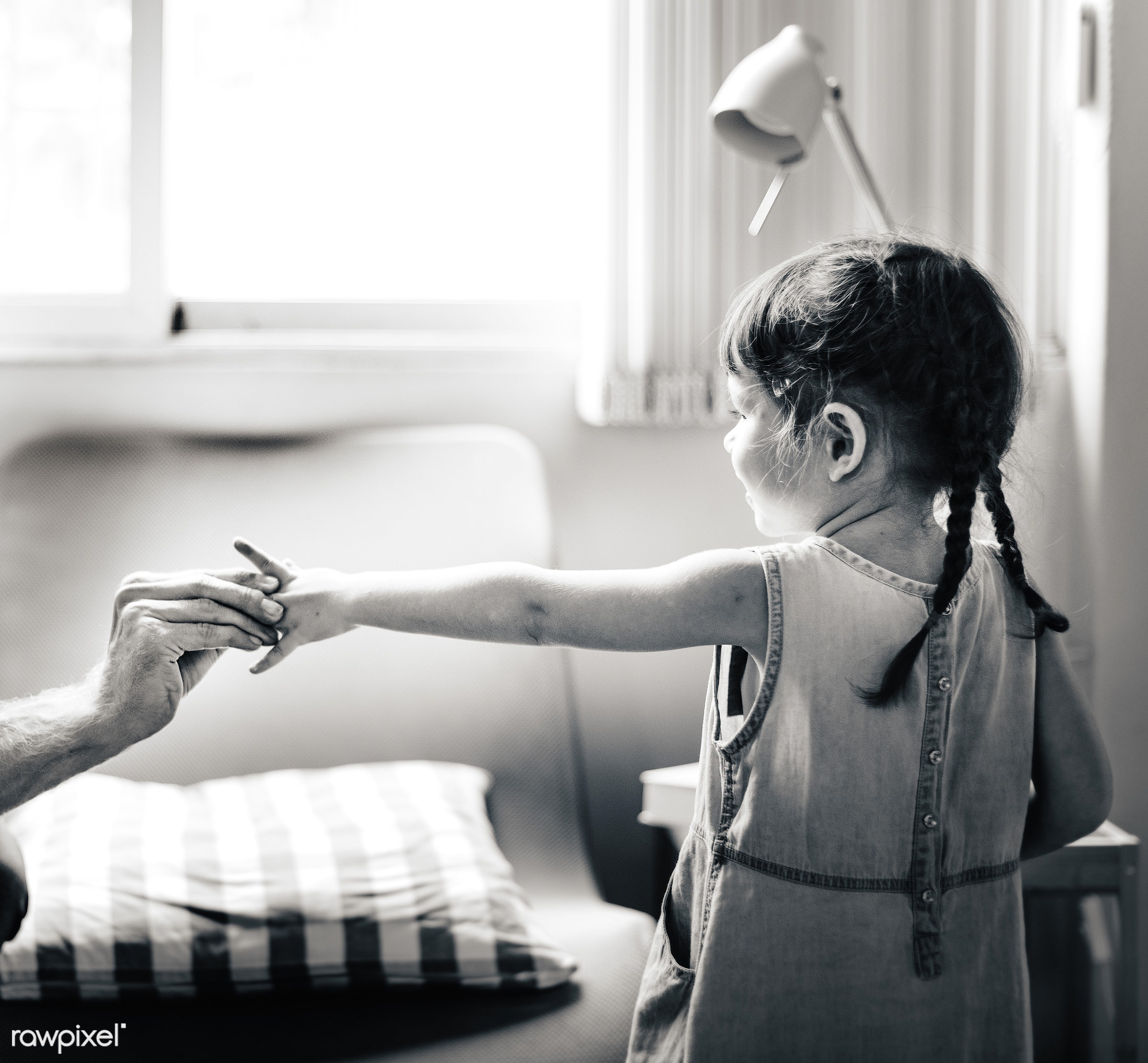Little girl holding someone's hand - activity, bonding, carefree, casual, cheerful, child, childhood, communication, dad...