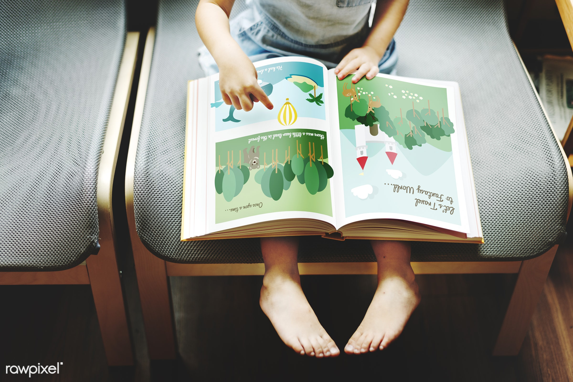 Little girl reading a book - activity, adolescence, art, book, casual, cheerful, child, childhood, children, cute, education...
