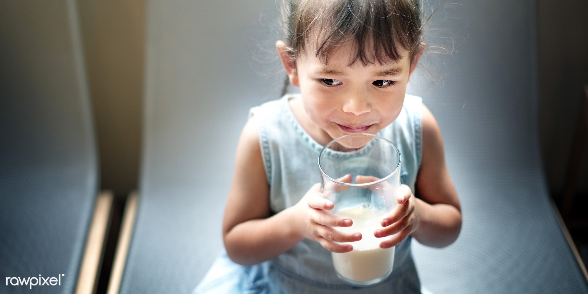 milk, asian, at home, beverage, chair, cheerful, child, childhood, cute, dairy, dreaming, dress, drink, drinking, emotions,...