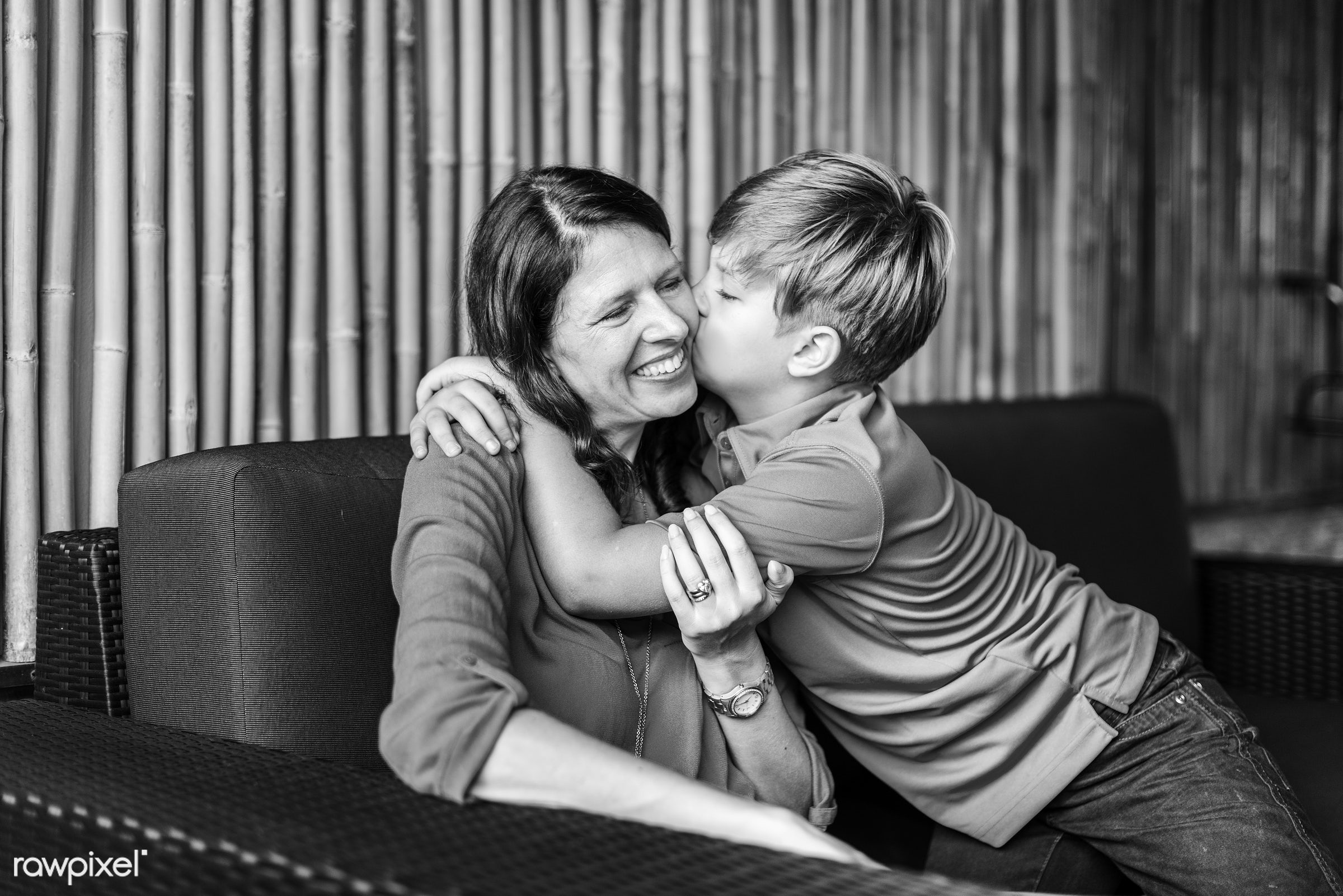 Daily lifestyle of caucasian family shoot - mom, adore, boy, cheerful, child, enjoy, family, fondness, happiness, home,...