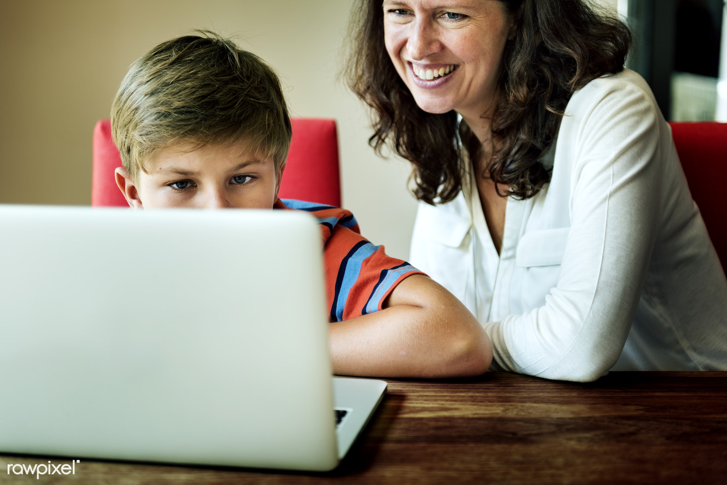 boy, caucasian, cheerful, child, computer, device, digital, enjoy, entertainment, family, happiness, home, house, kid,...