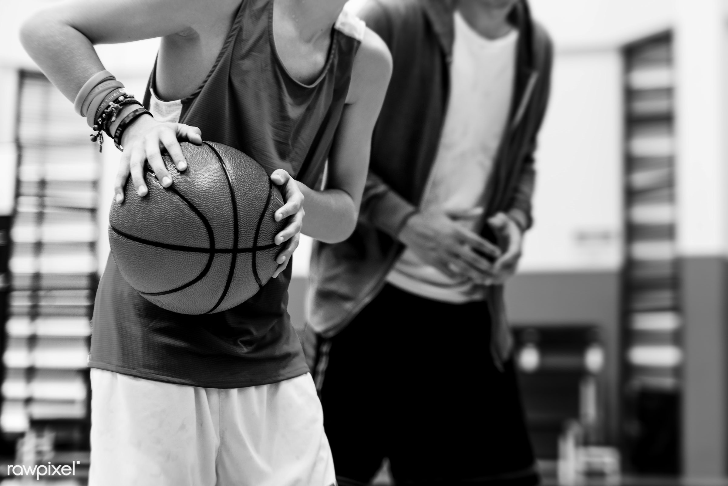 Young basketball player shoot - activity, basketball, boy, coach, coaching, court, exercise, friends, game, man, play,...