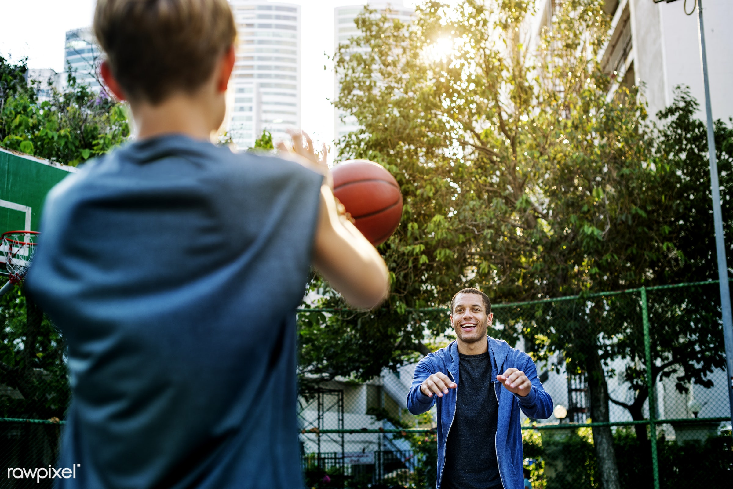 Young basketball player shoot - activity, basketball, boy, caucasian, exercise, game, man, play, player, practice, sport,...