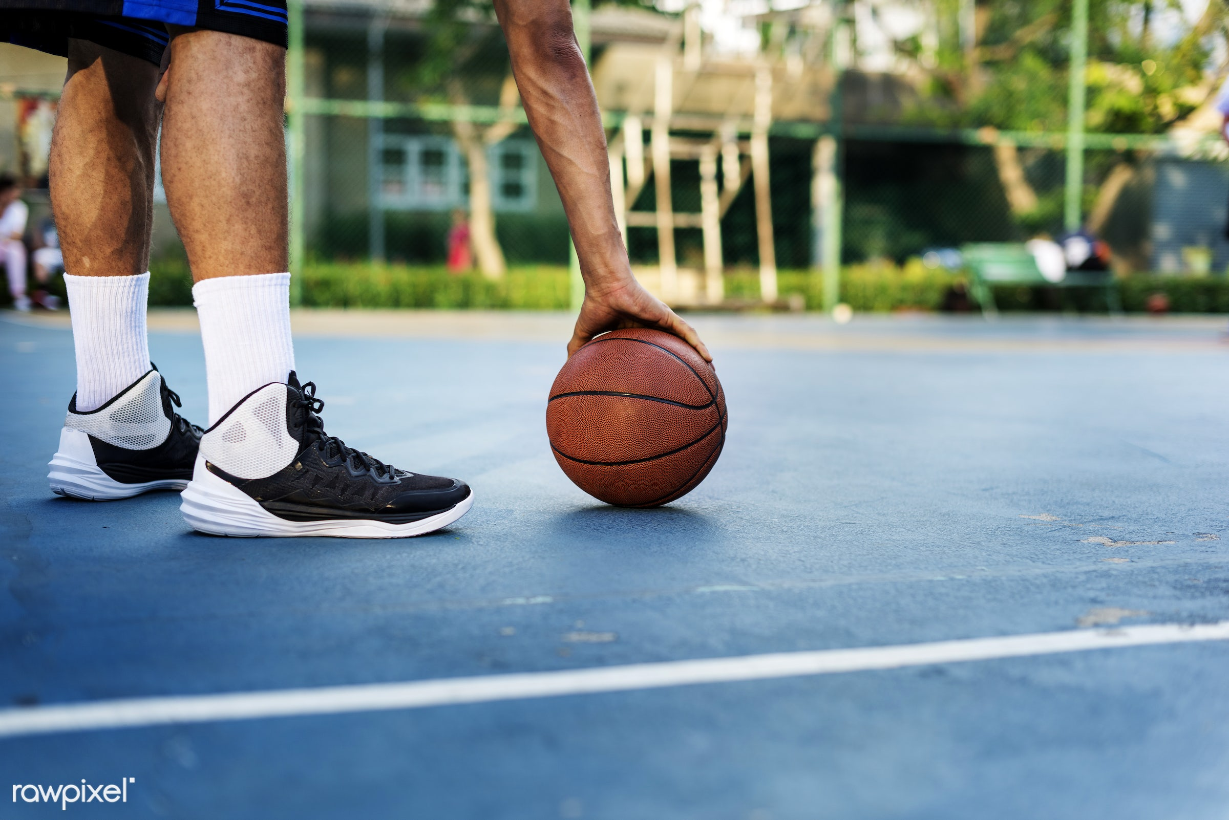 Young basketball player shoot - basketball, sport, court, game, strength, activity, boy, exercise, man, play, player,...