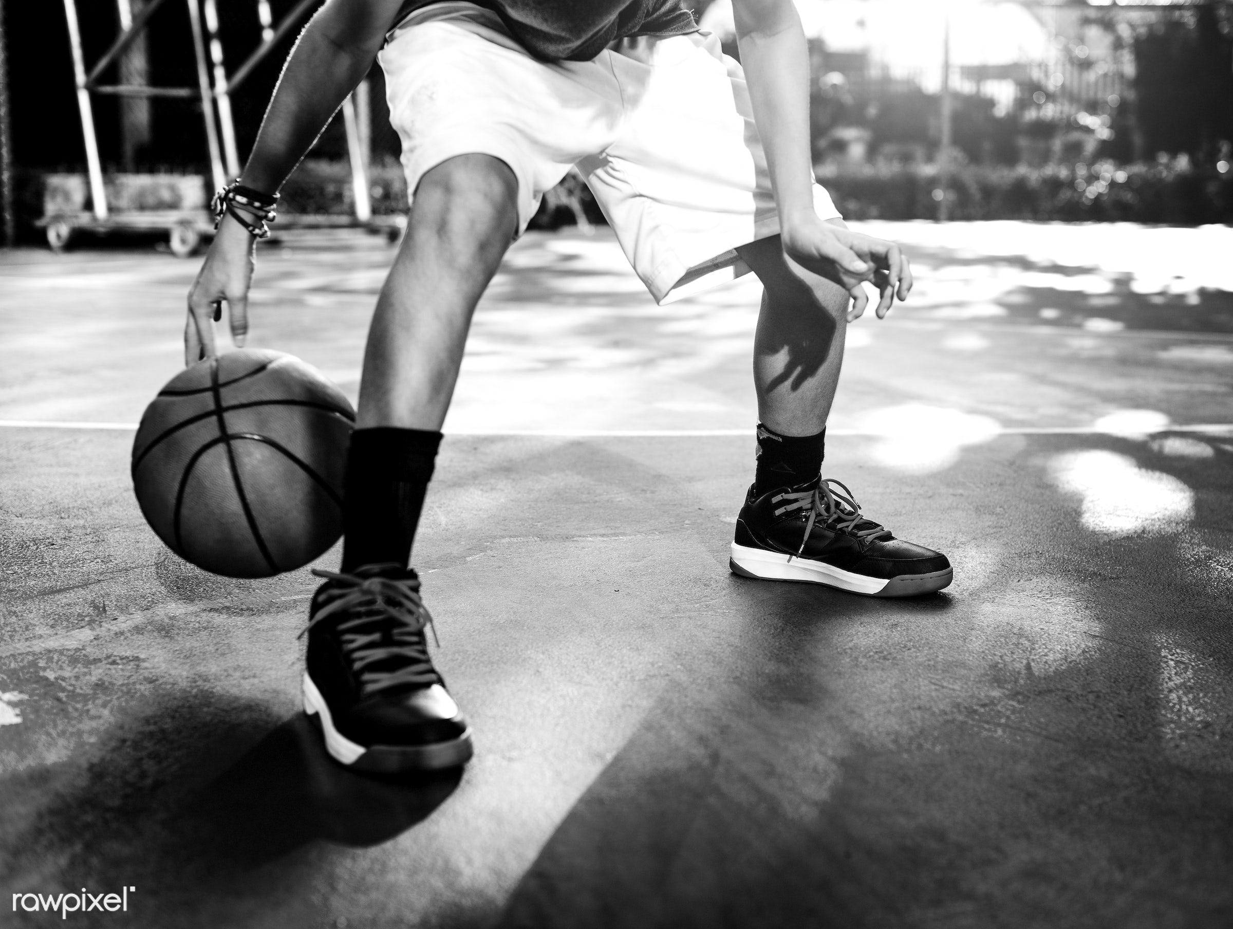 Young basketball player shoot - basketball, activity, ball, boy, exercise, game, man, play, player, practice, sport,...
