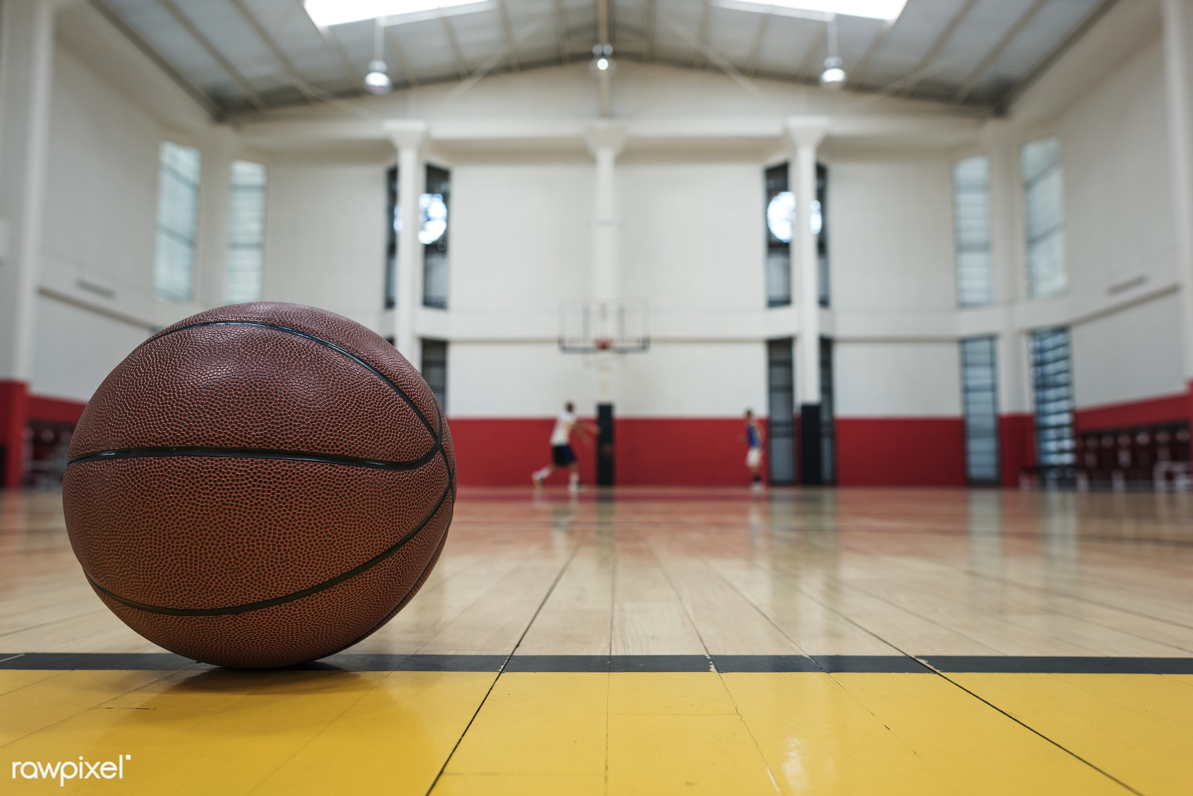 Young basketball player shoot - basketball, activity, ball, closeup, court, exercise, floor, game, object, play, practice,...