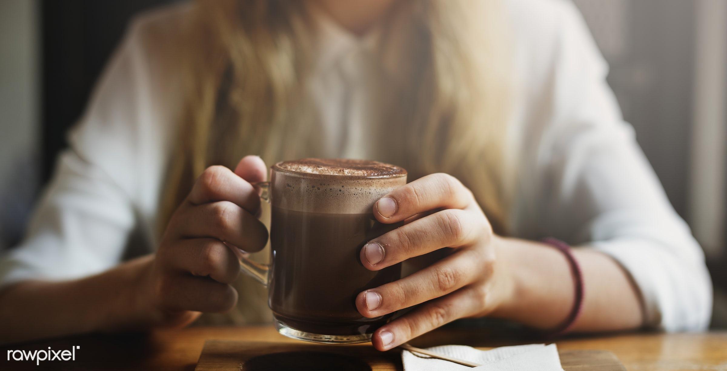 alone, beautiful, cafe, casual, cheerful, close-up, coffee, coffee shop, cute, drink, girl, happy, hobby, joy, joyful,...