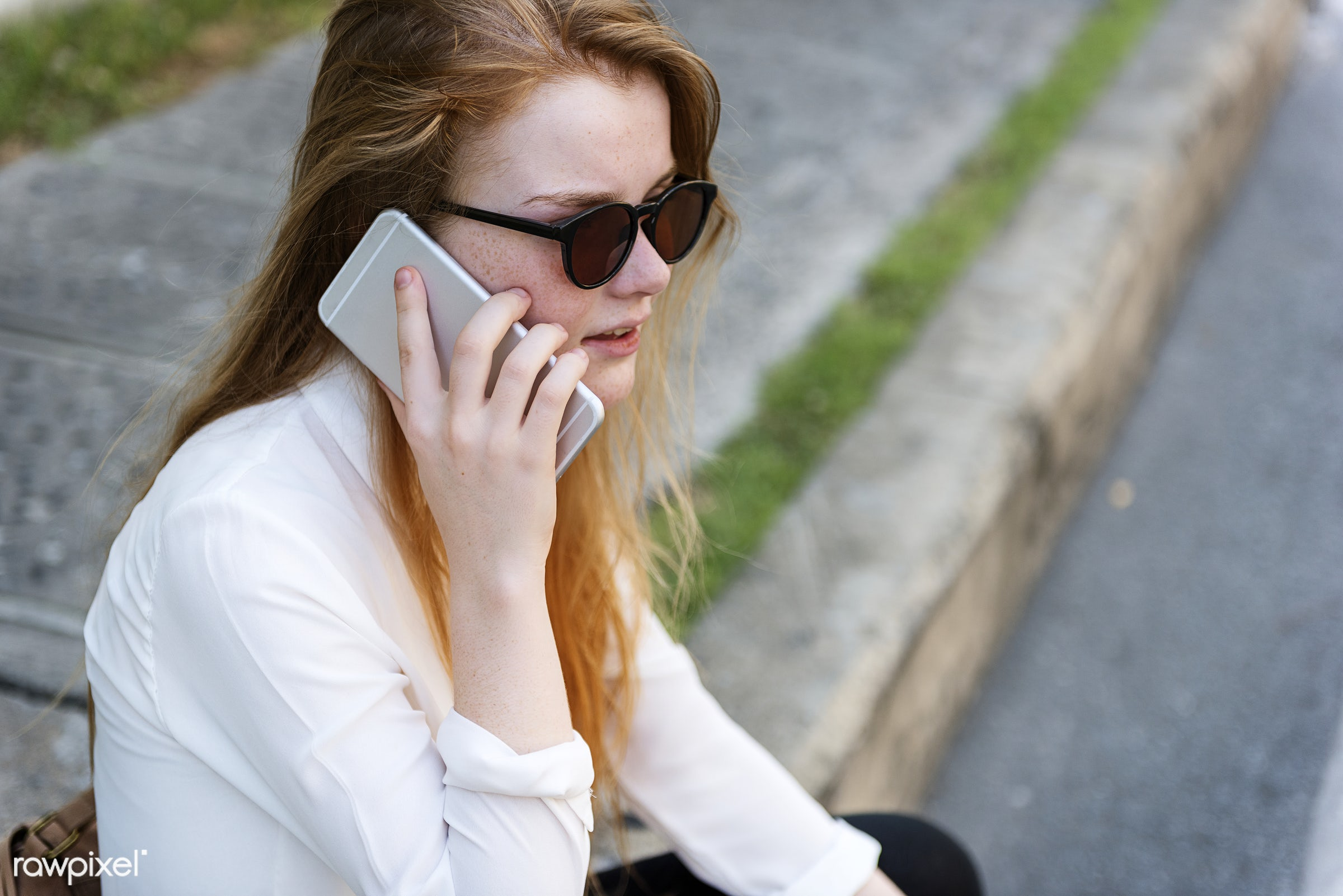 adult, beautiful, business, call, casual, caucasian, cellphone, city, closeup, communicate, communication, concentrated,...