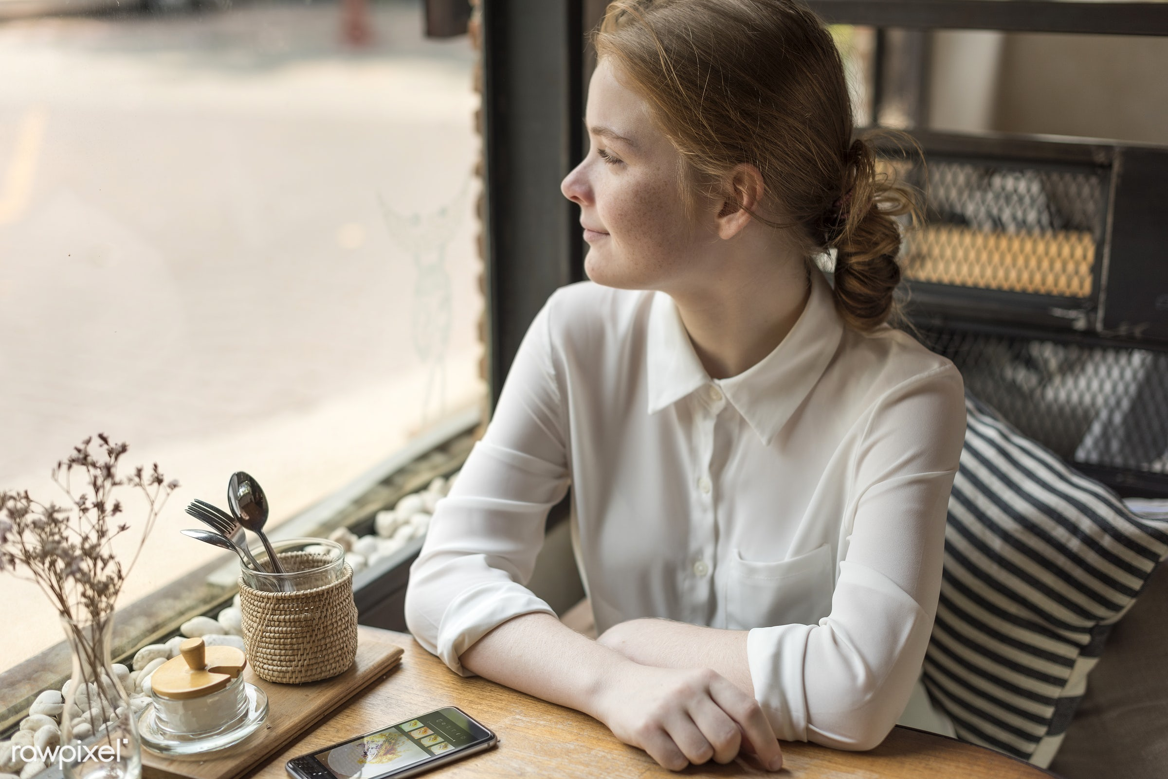 adult, alone, cafe, casual, coffee shop, communication, connection, digital device, education, girl, global communications,...